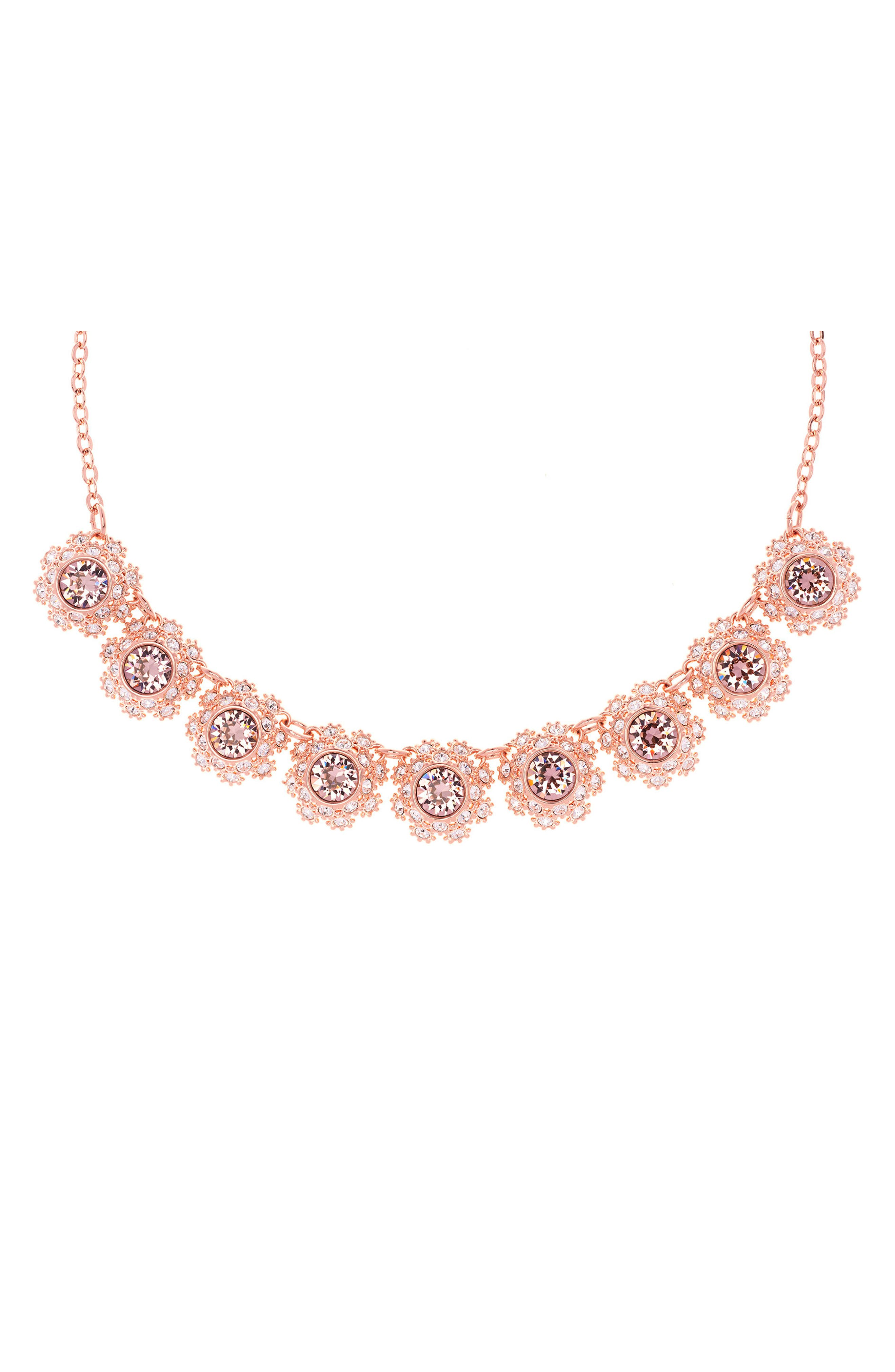 Crystal Daisy Lace Collar Necklace,                             Alternate thumbnail 2, color,                             660