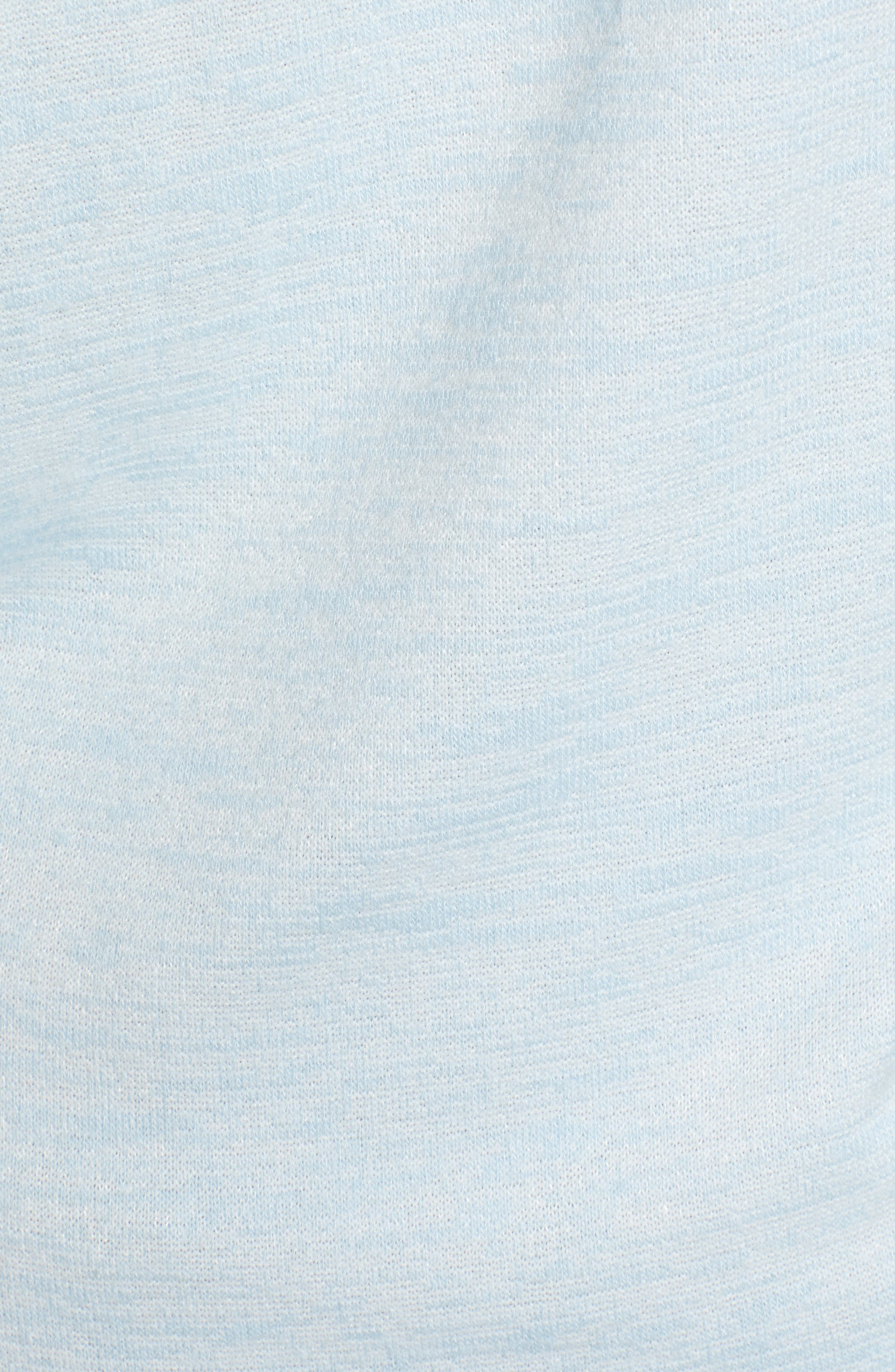 Soft Jersey Hoodie Top,                             Alternate thumbnail 5, color,                             BLUE