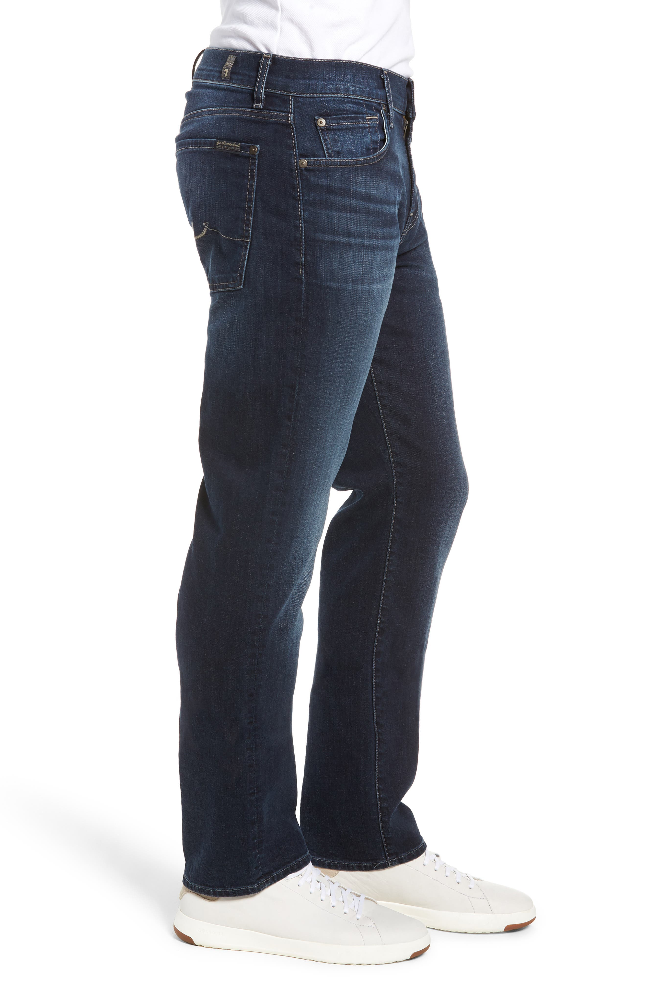 Standard Fit Straight Leg Jeans,                             Alternate thumbnail 3, color,                             JUSTICE