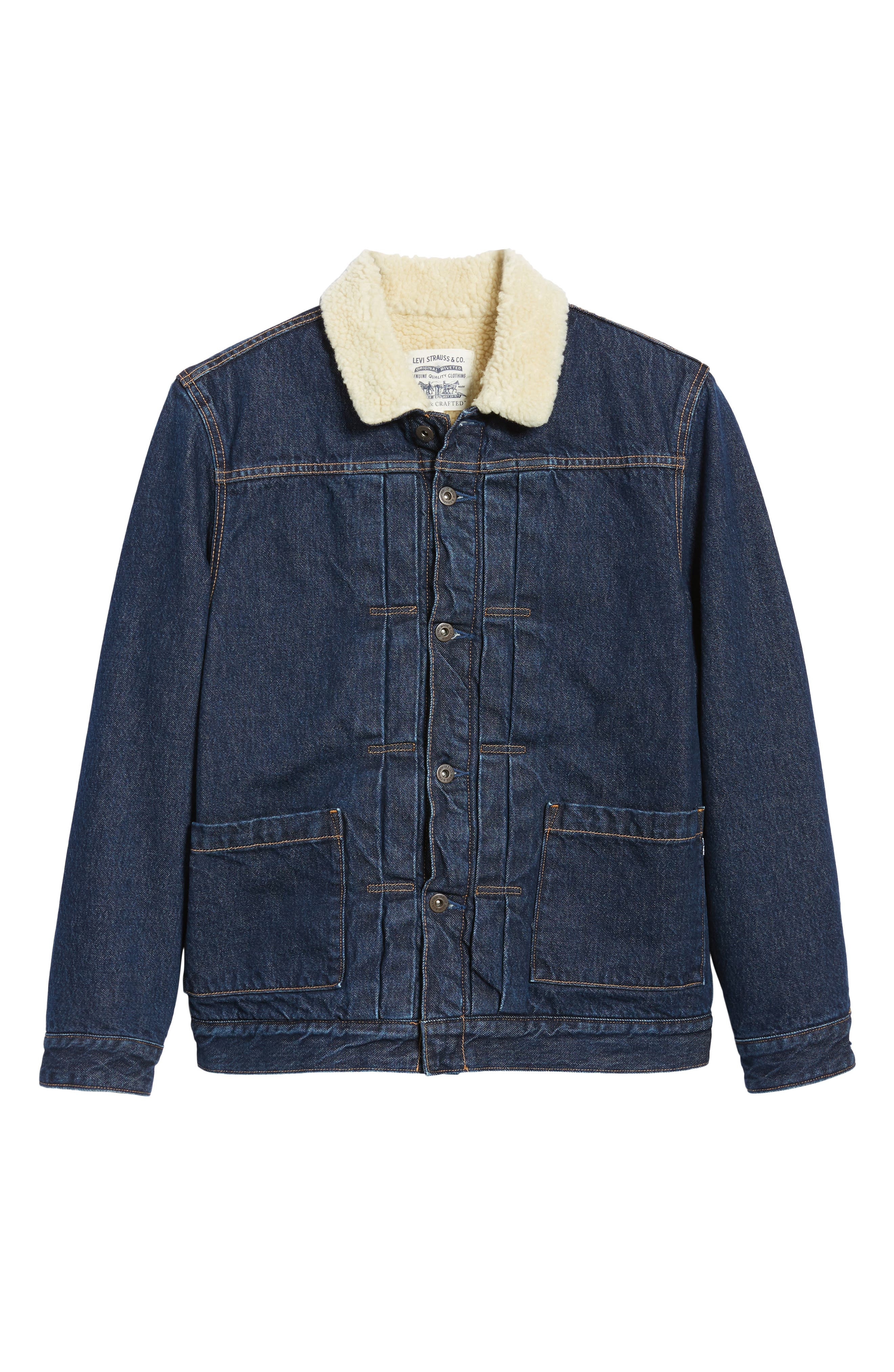 Levi's Made & Crafted<sup>™</sup> Faux Shearling Lined Denim Jacket,                             Alternate thumbnail 6, color,                             CANYON