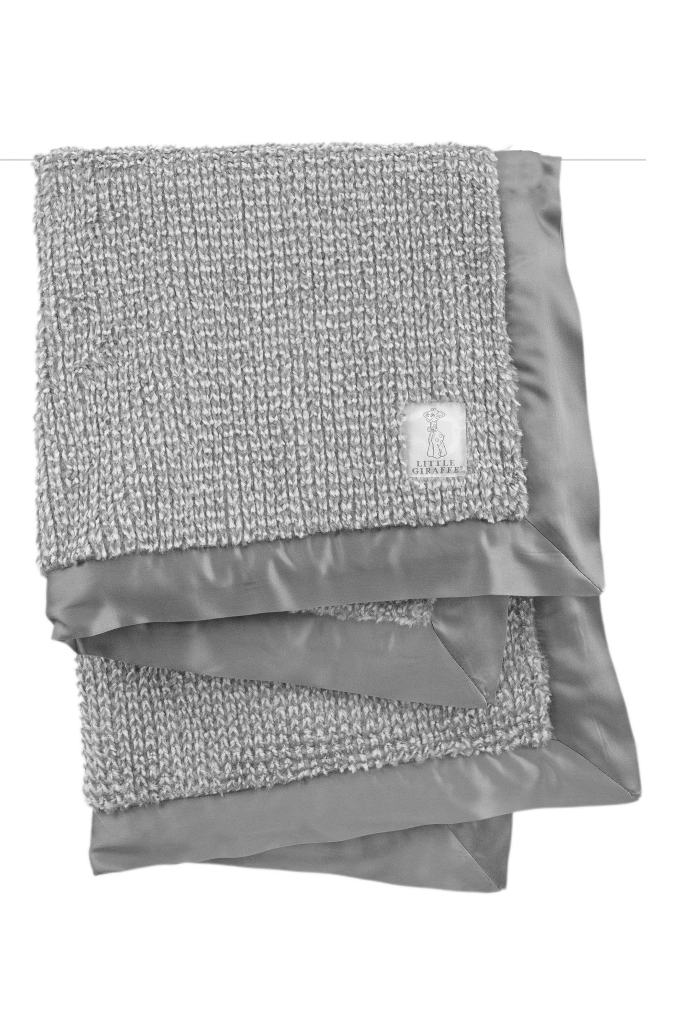 Luxe Herringbone Blanket,                         Main,                         color, CHARCOAL