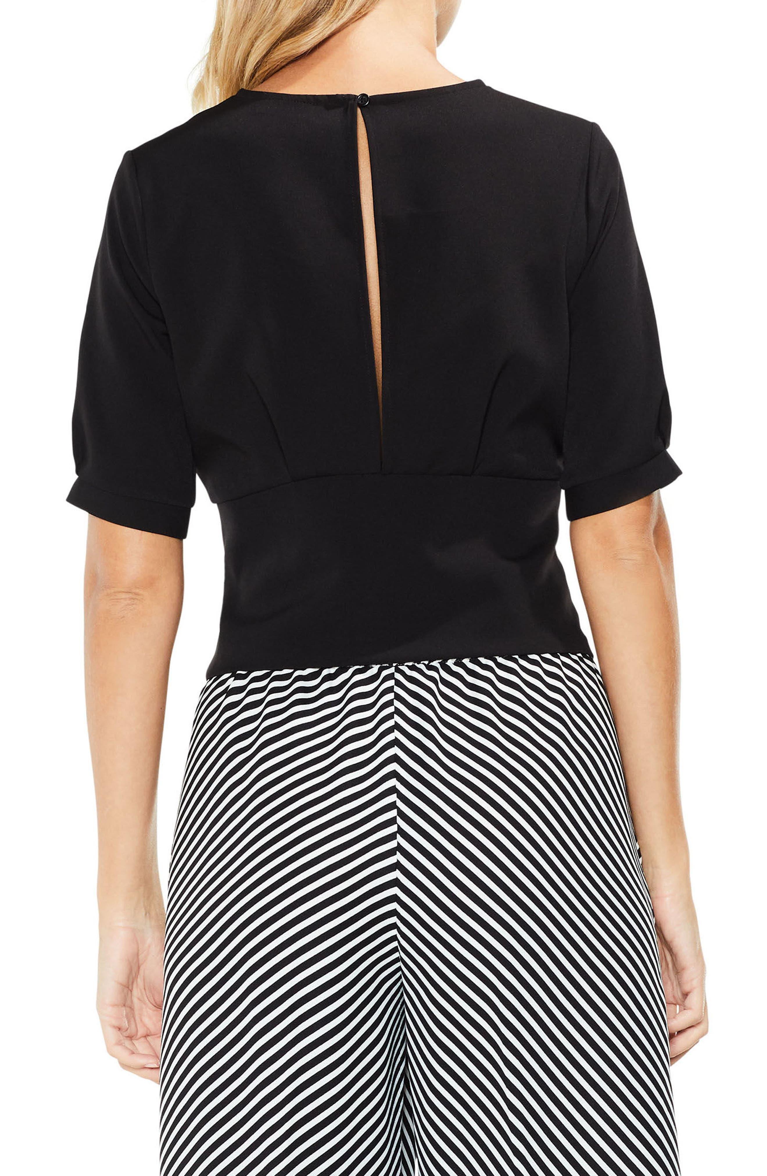 Lace-Up Tie Front Blouse,                             Alternate thumbnail 2, color,                             006