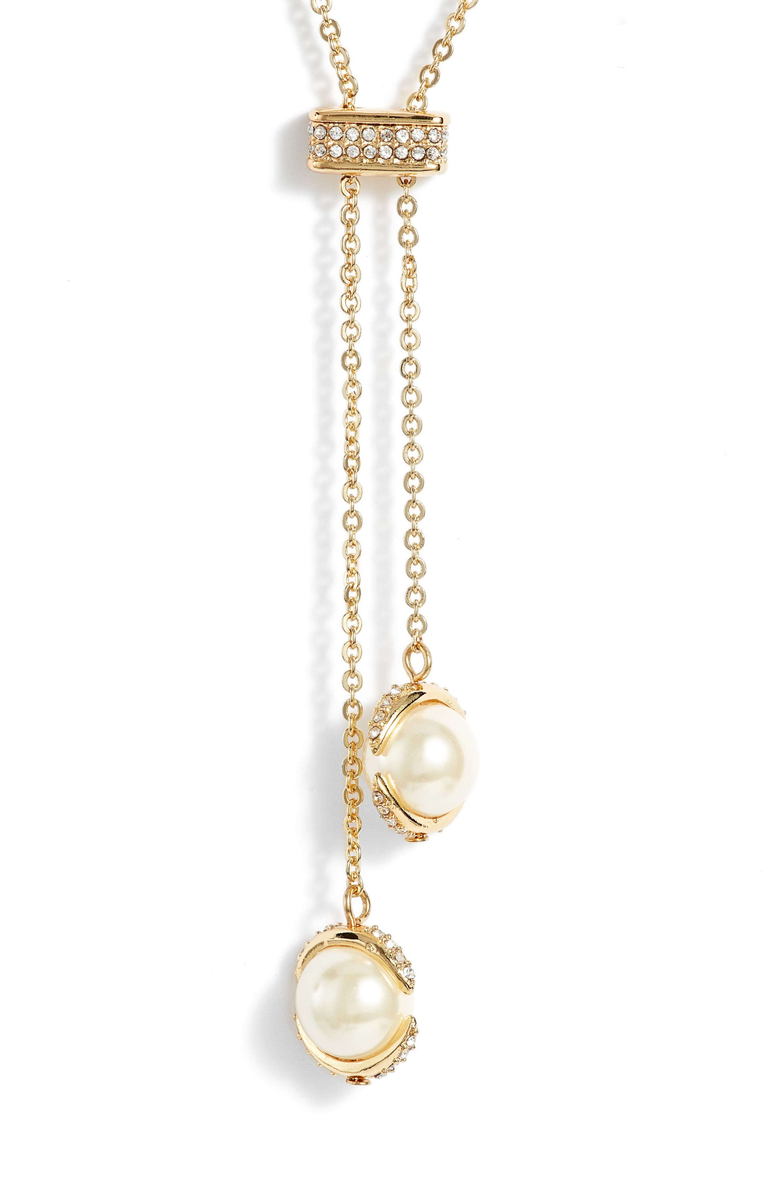 Crystal Slider Y-Necklace,                             Main thumbnail 1, color,                             710