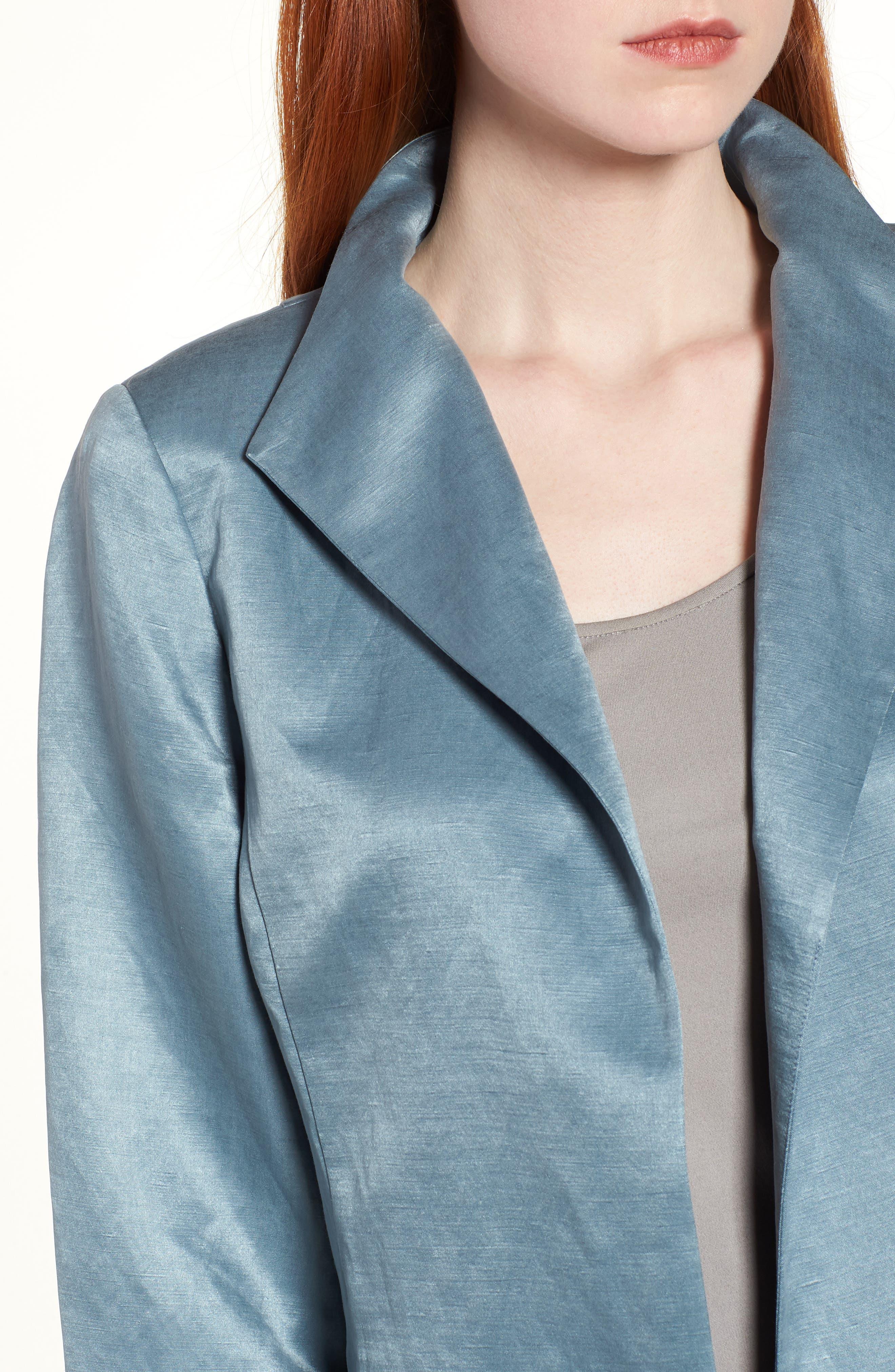 High Collar Long Jacket,                             Alternate thumbnail 18, color,