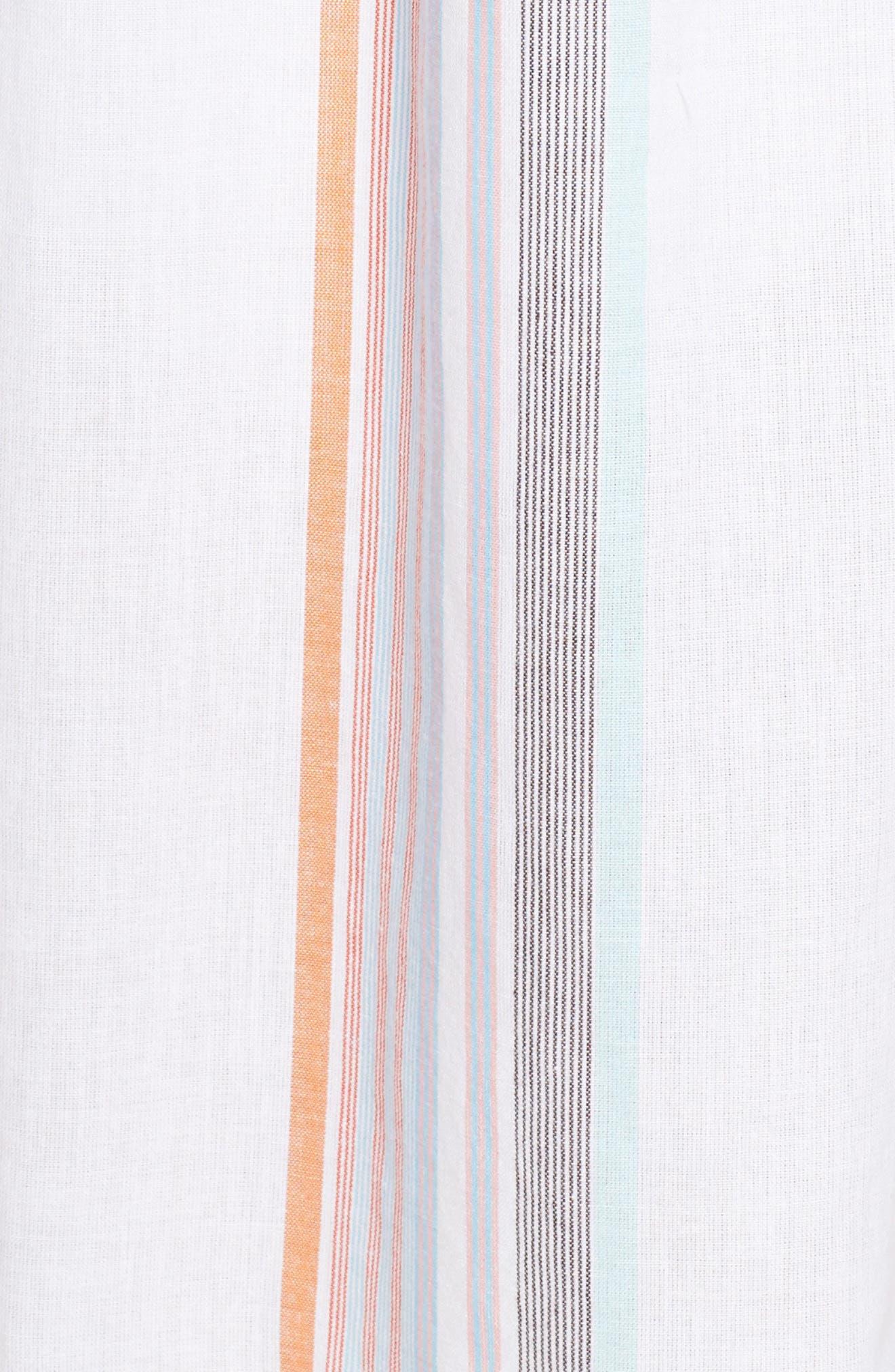 Sunset Stripe Cold Shoulder Cover-Up Dress,                             Alternate thumbnail 5, color,                             100