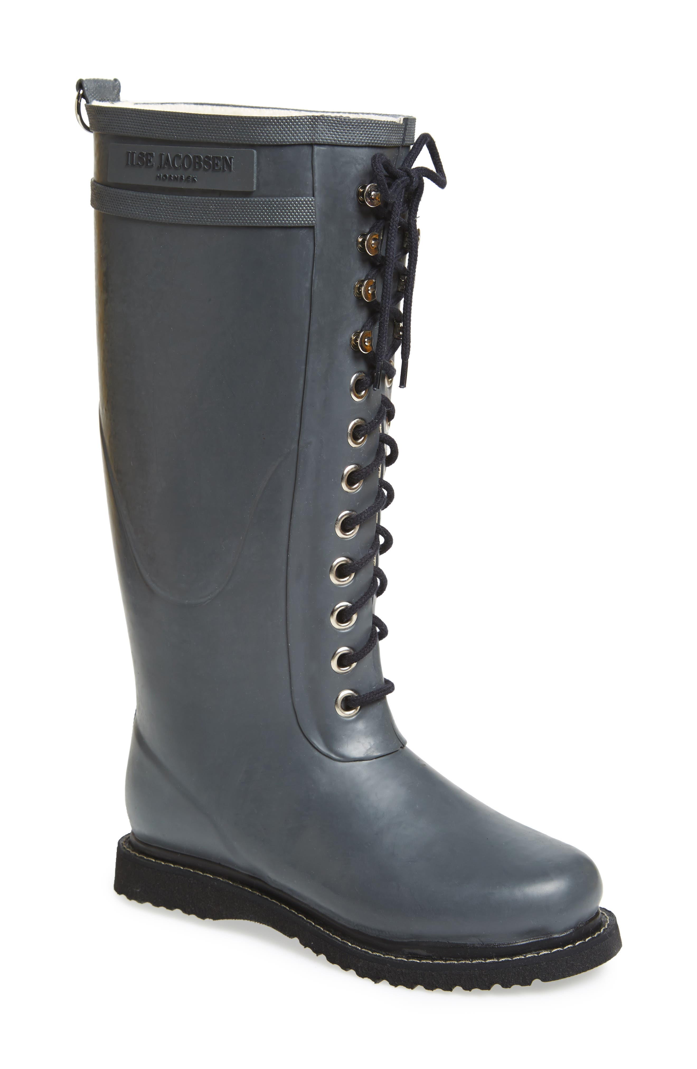 Rubber Boot,                             Alternate thumbnail 2, color,                             GREY