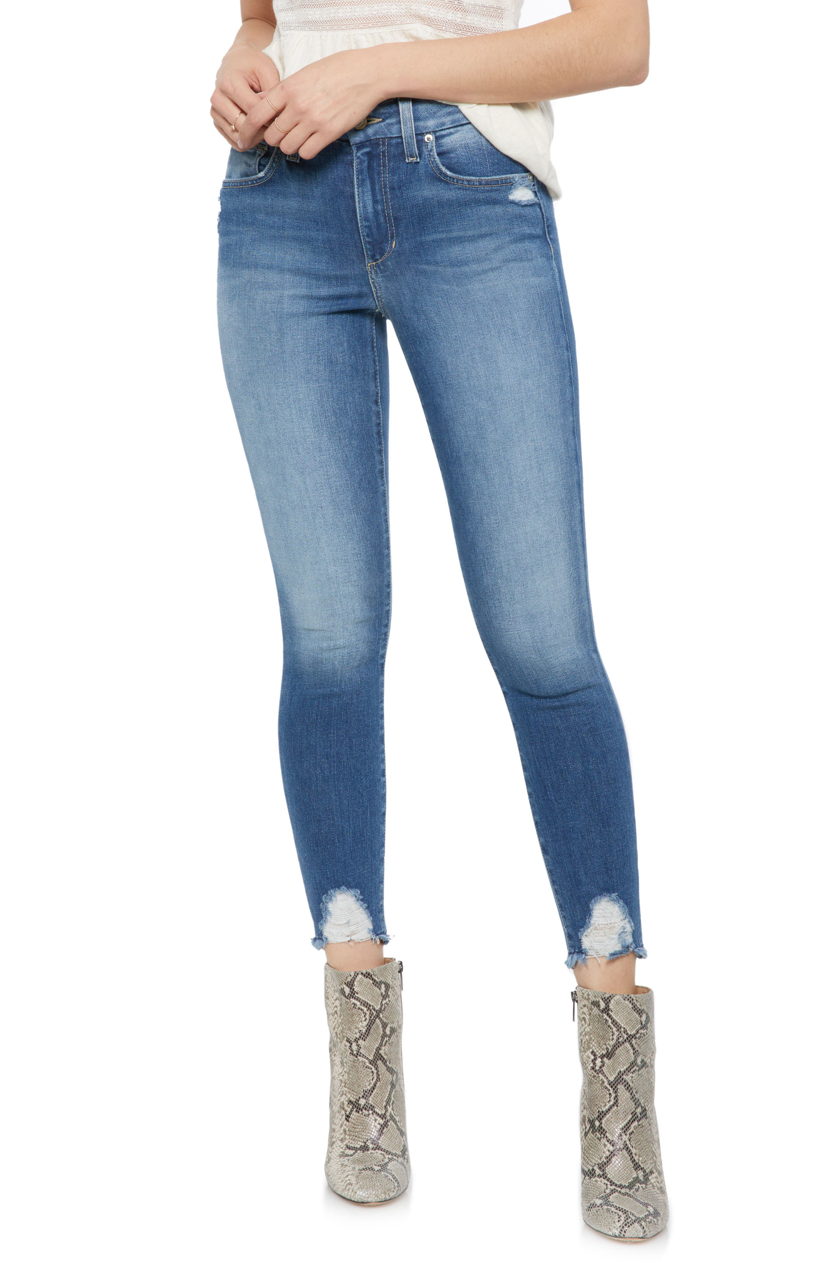 Hi Rise Honey Curvy Skinny Crop Jeans,                             Main thumbnail 1, color,                             QUINLEY