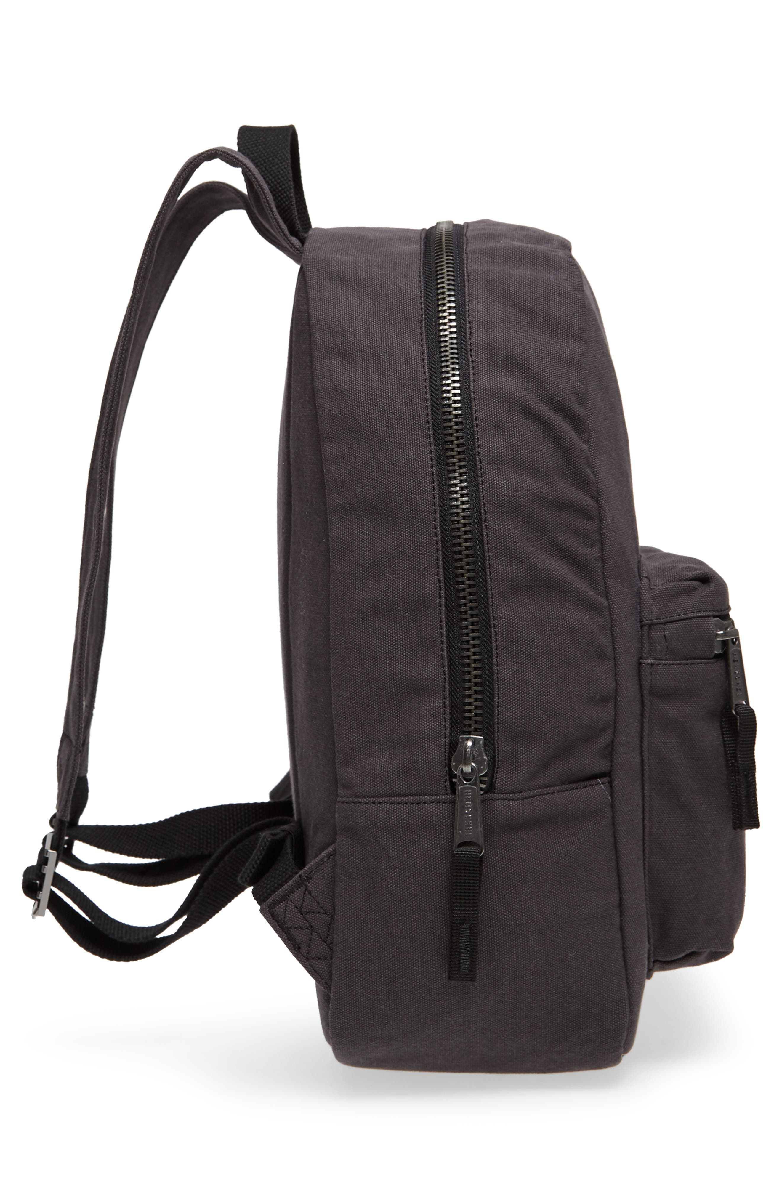 X-Small Grove Cotton Canvas Backpack,                             Alternate thumbnail 5, color,                             001