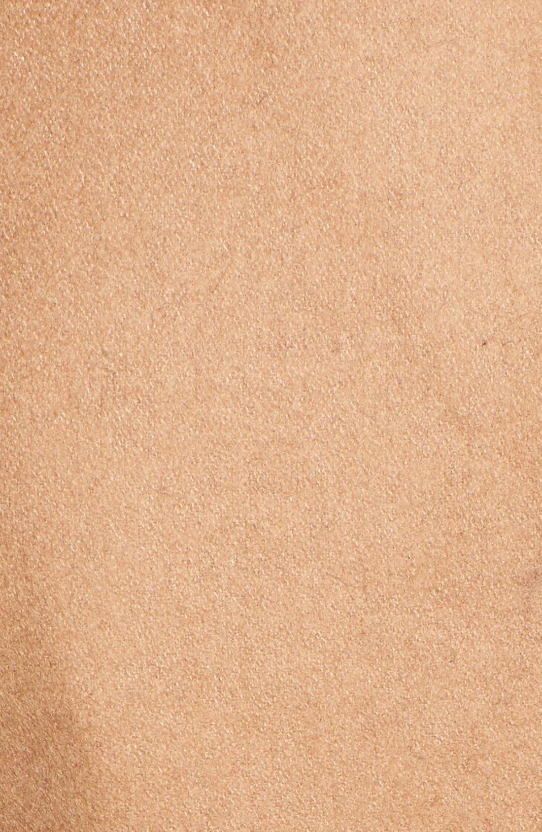 Faux Leather & Faux Fur Trim Belted Wool Blend Coat,                             Alternate thumbnail 37, color,