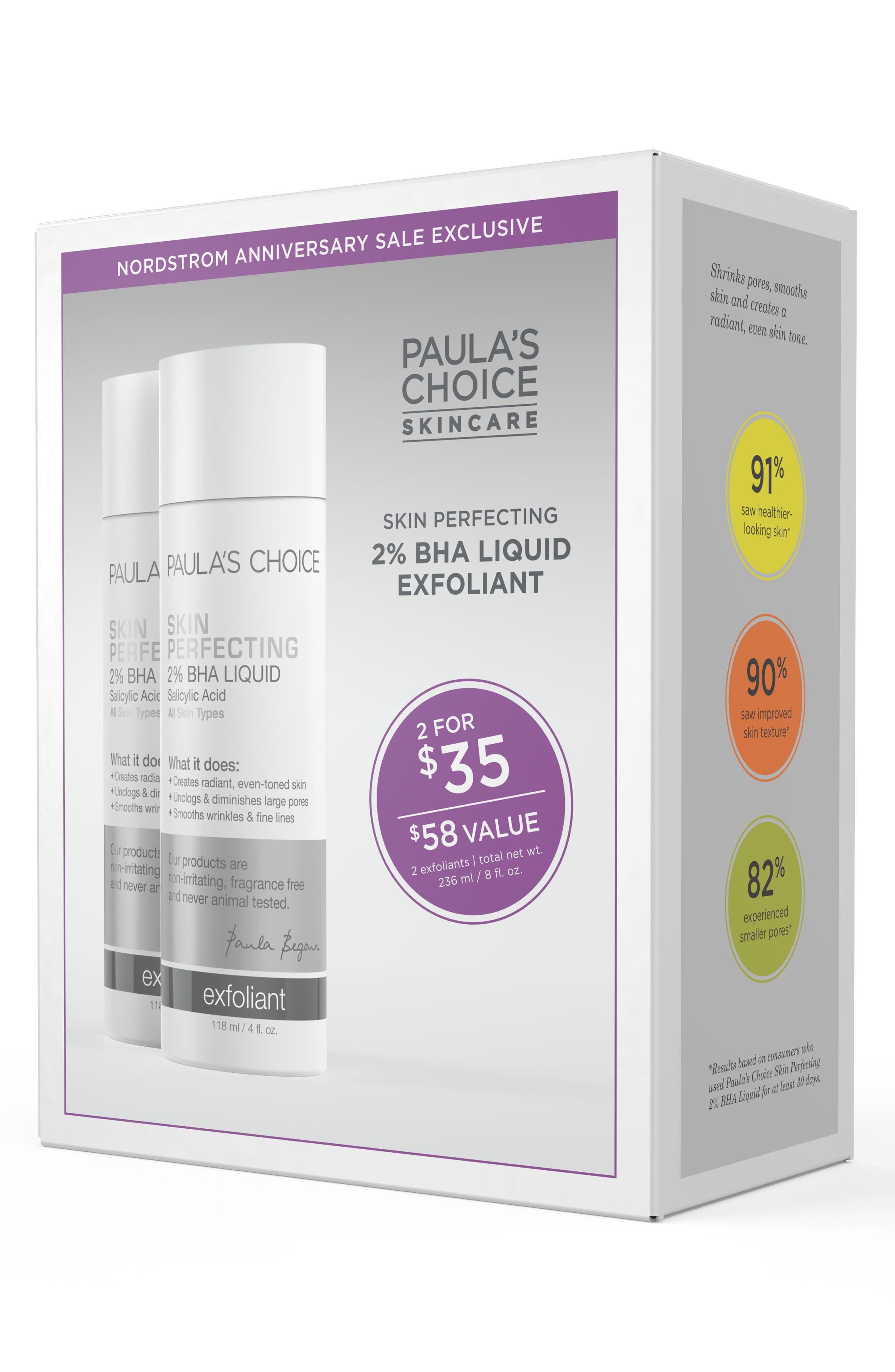 Skin Perfecting 2% BHA Liquid Exfoliant Duo,                             Alternate thumbnail 3, color,                             000