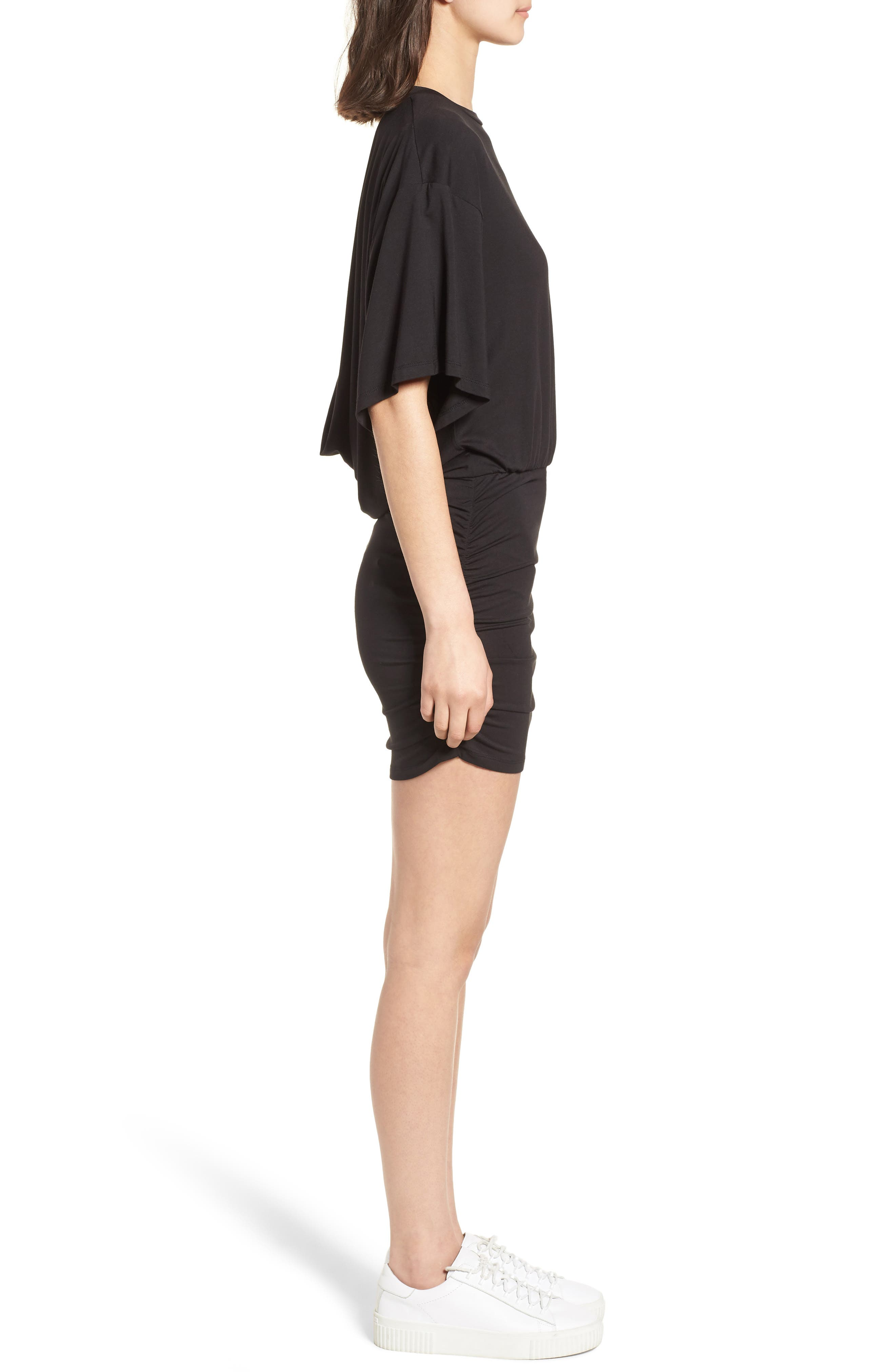 KENDALL + KYLIE,                             Open Back T-Shirt Dress,                             Alternate thumbnail 3, color,                             001
