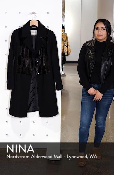 Faux Fur Panel Wool Blend Coat, sales video thumbnail