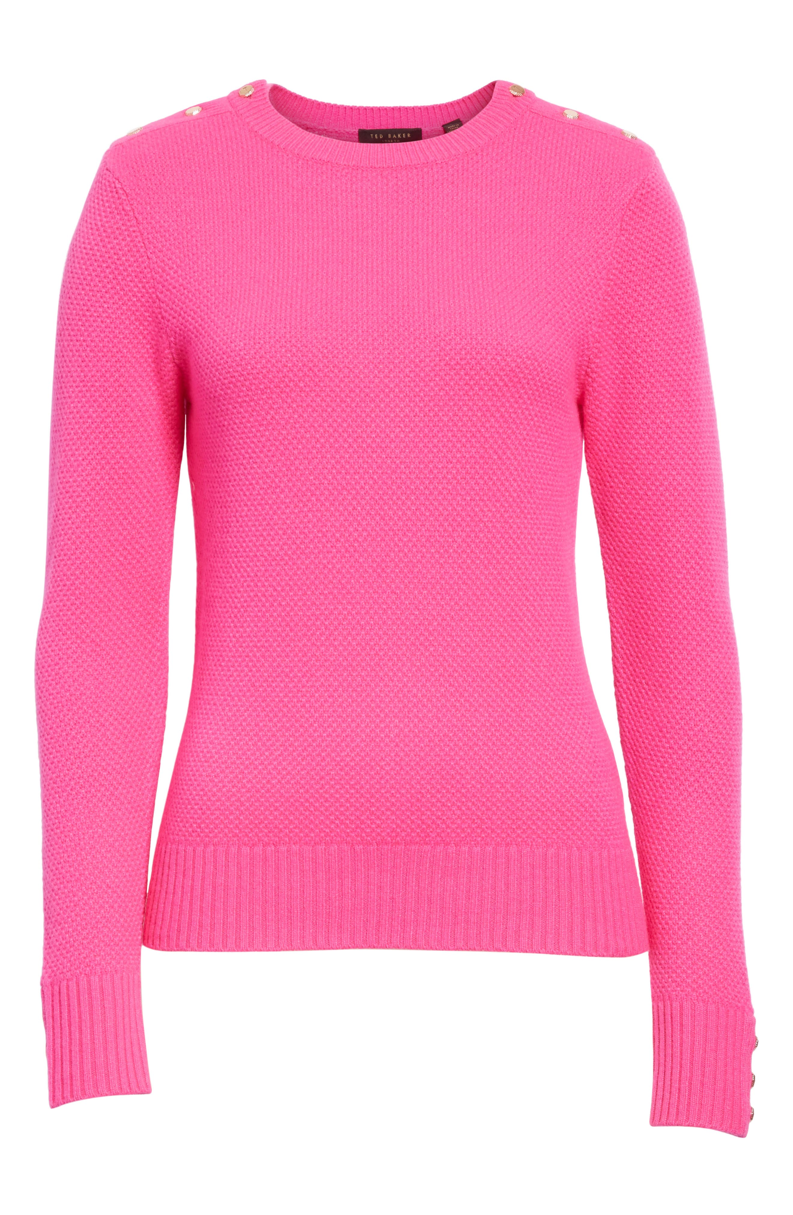 Textured Merino-Wool-Blend Sweater,                             Alternate thumbnail 6, color,