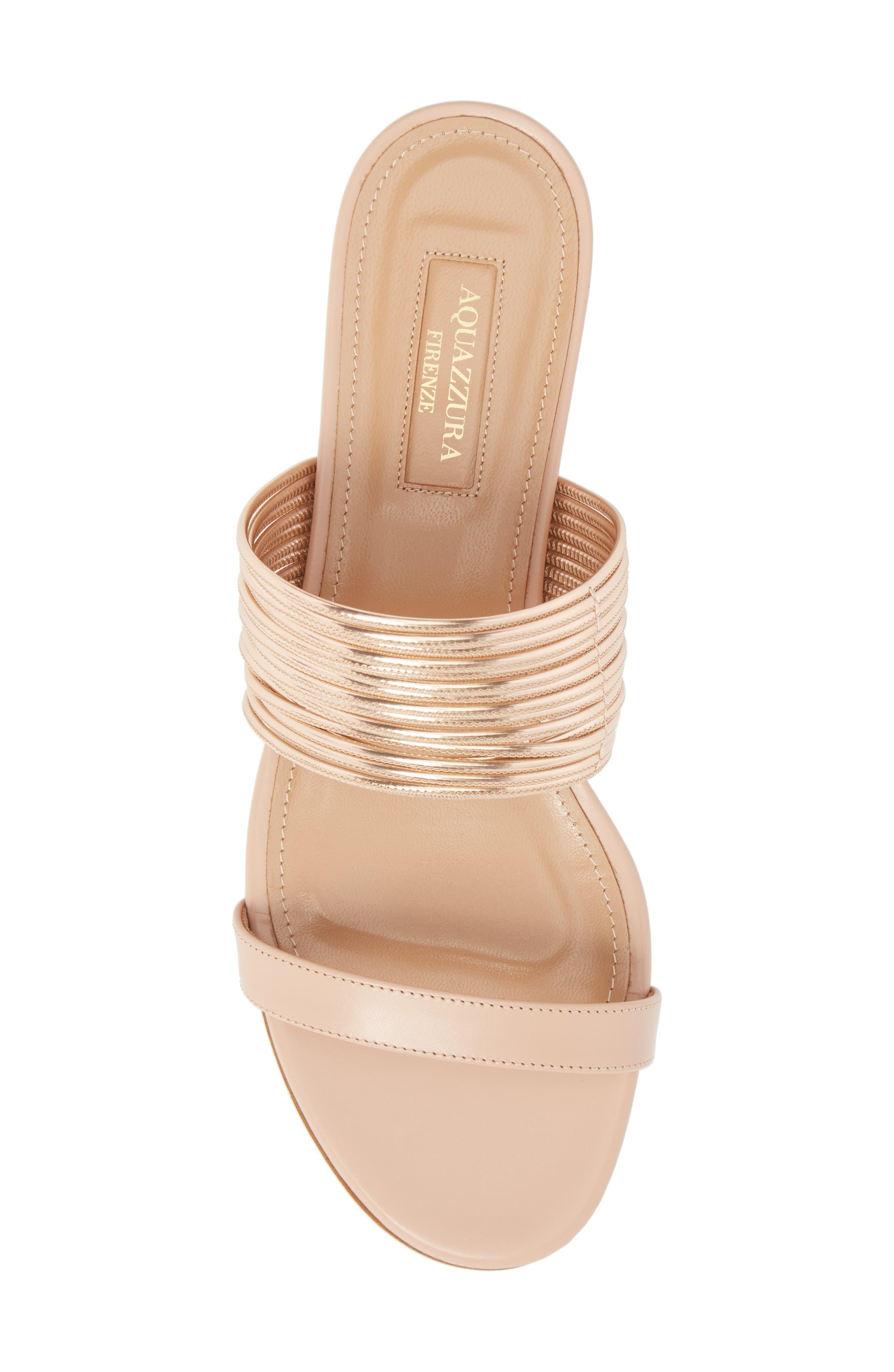 Rendezvous Metallic Sandal,                             Alternate thumbnail 5, color,                             POWDER PINK/CIPRIA