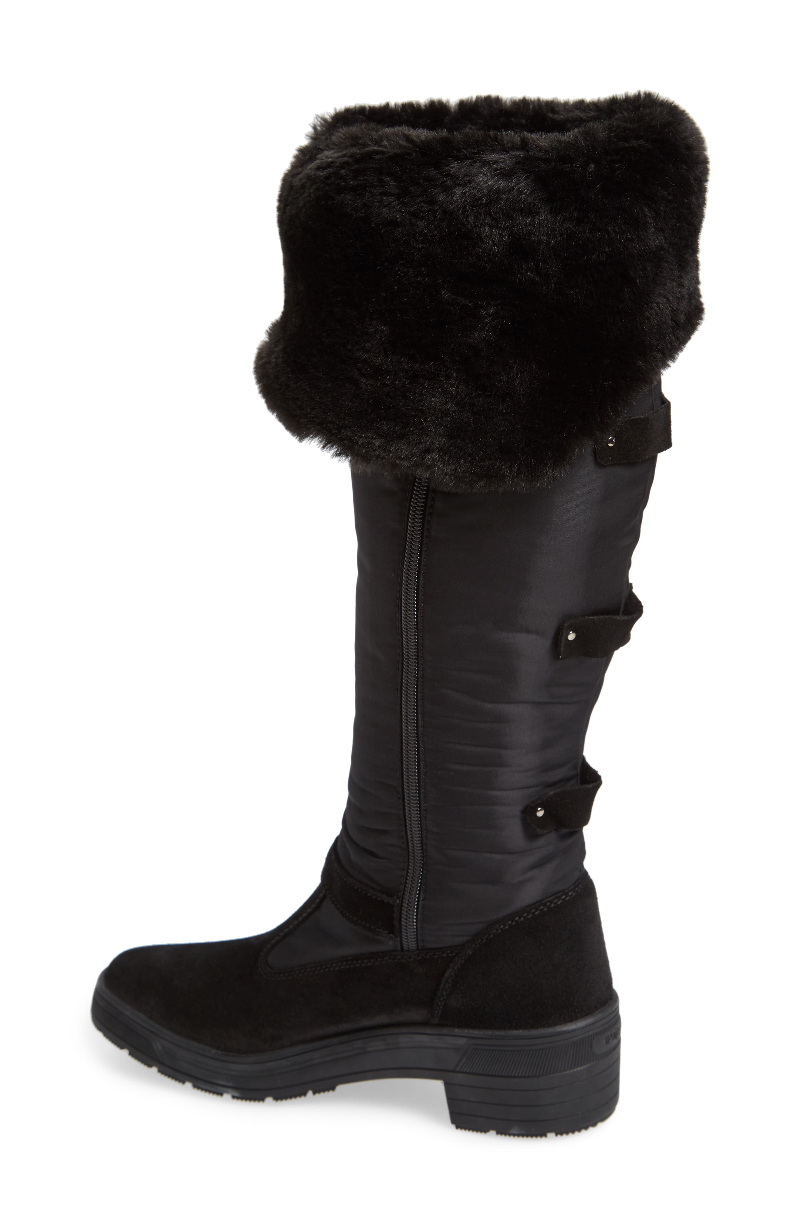 Norah Waterproof Boot with Faux Fur Cuff,                             Alternate thumbnail 2, color,
