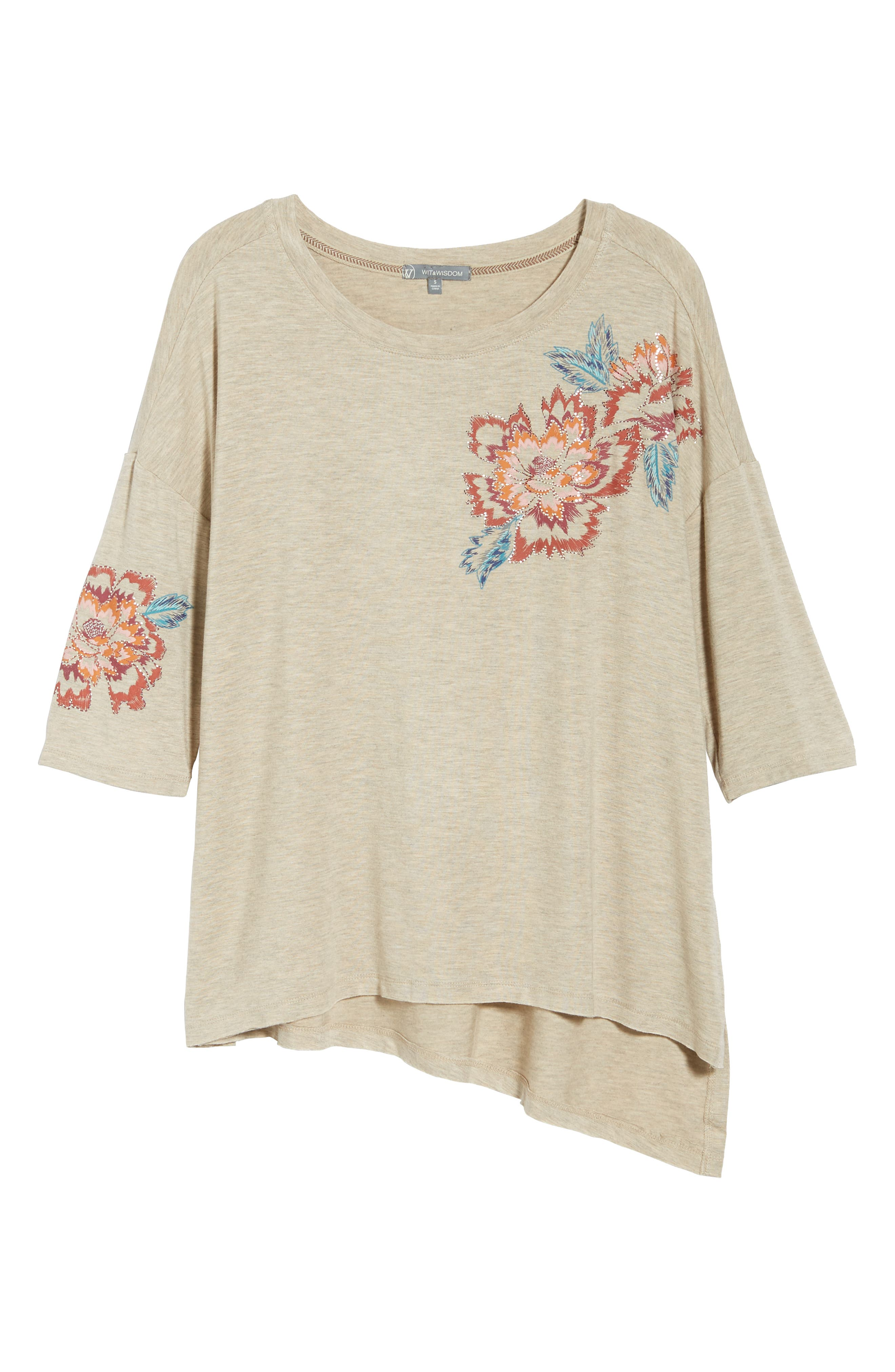 Floral Print Top,                             Alternate thumbnail 6, color,                             279
