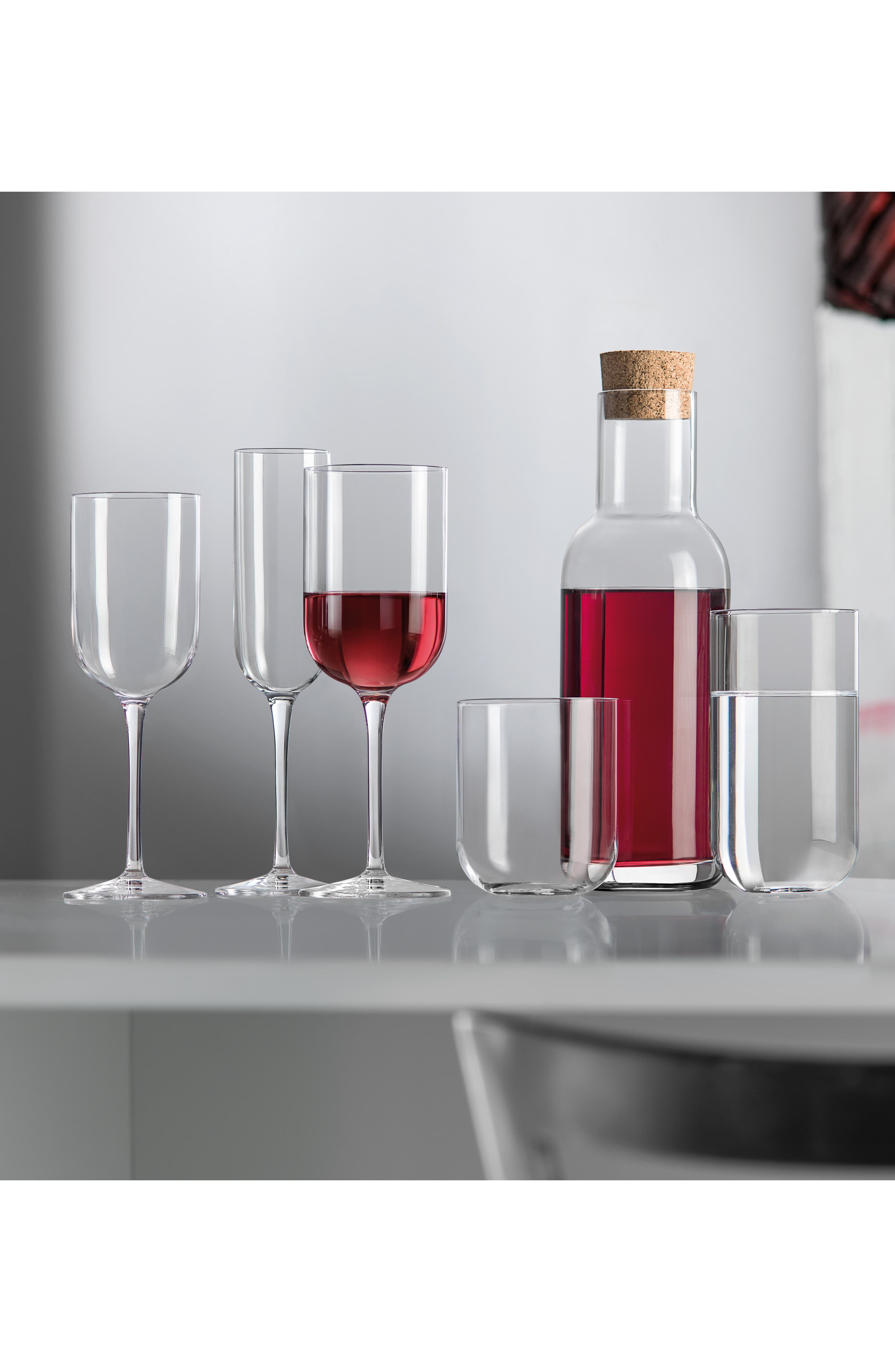 'Sublime' Red Wine Glasses,                             Alternate thumbnail 3, color,                             CLEAR