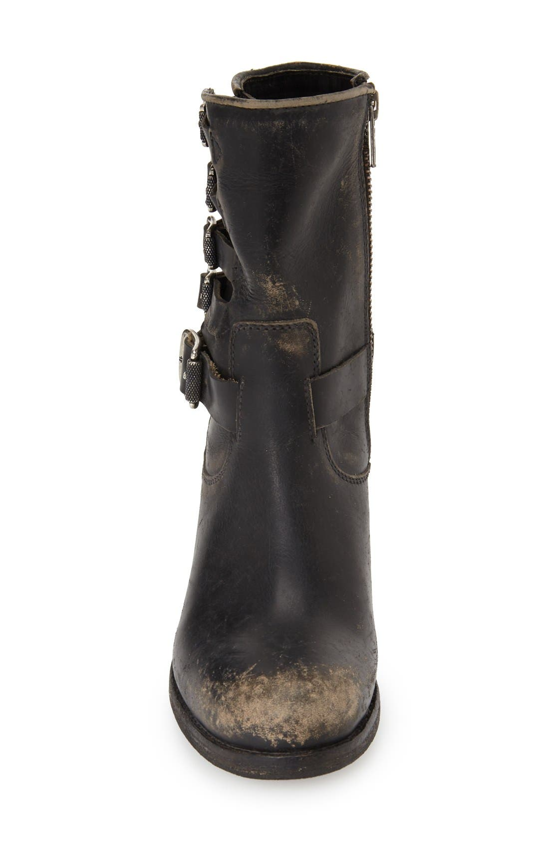 'Kelly' Belted Short Boot,                             Alternate thumbnail 2, color,                             001