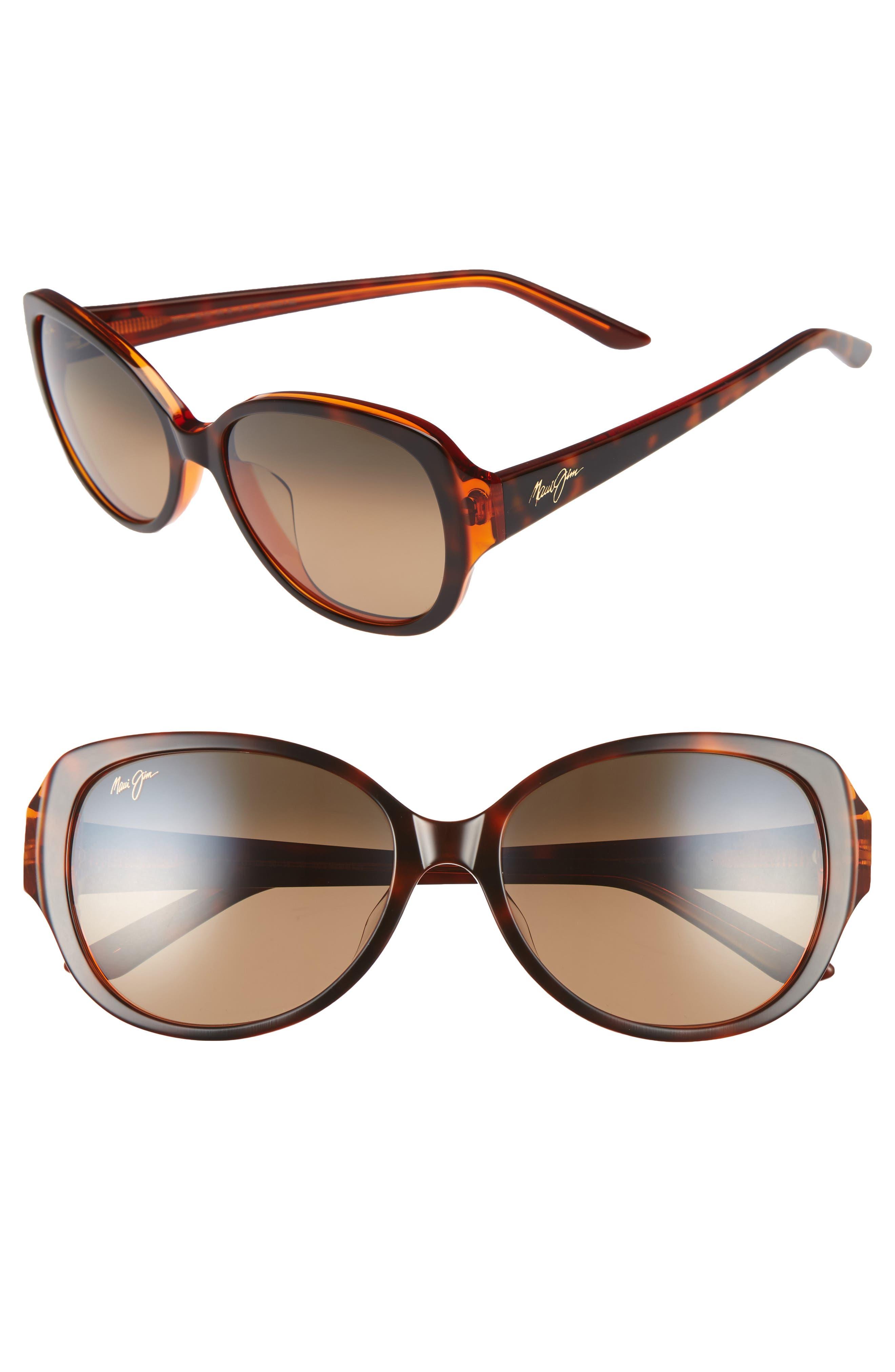 Maui Jim Swept Away 5m Polarizedplus2 Sunglasses - Tortoise Caramel/ Hcl Bronze