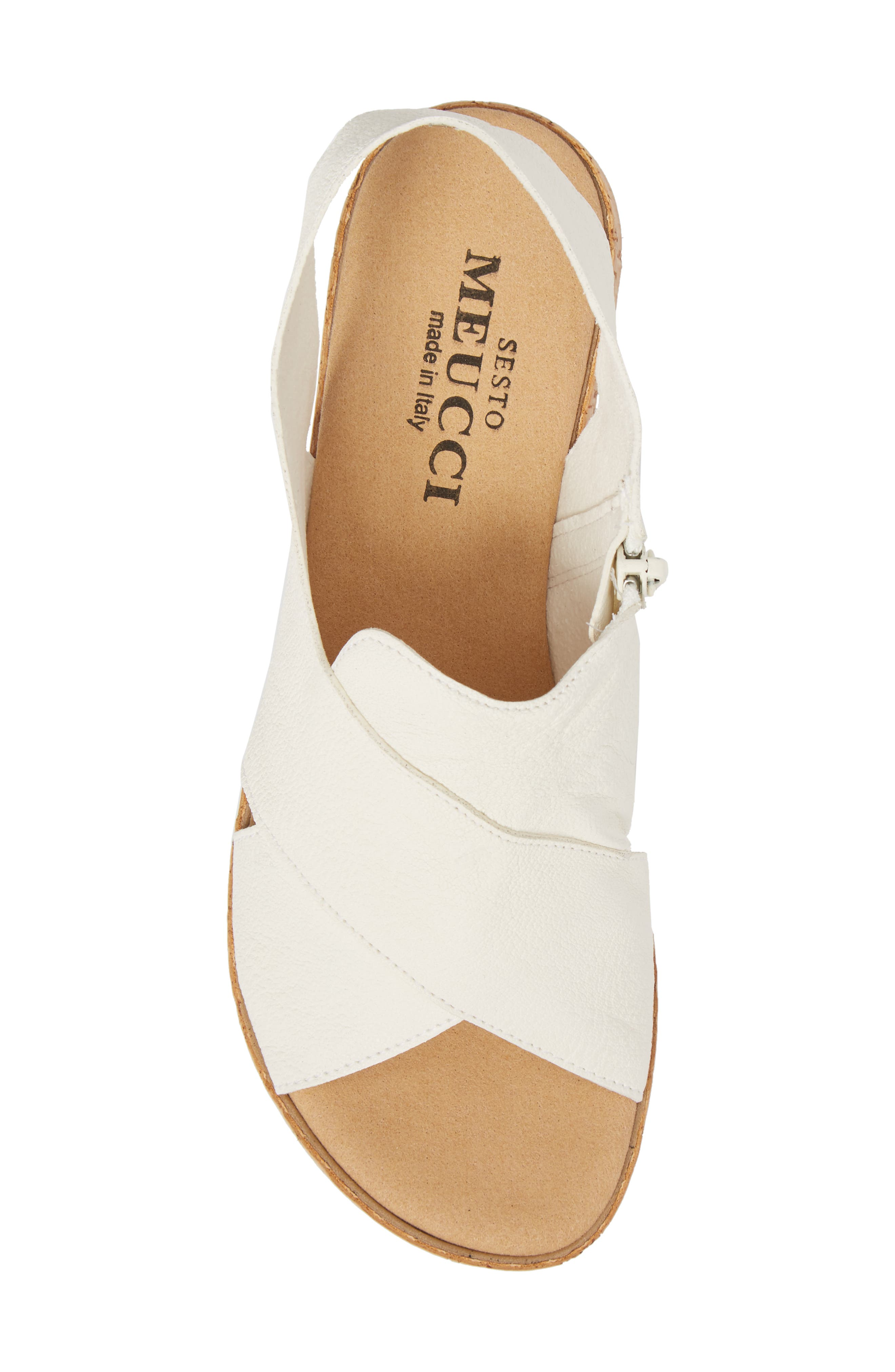 Sylke Sandal,                             Alternate thumbnail 5, color,                             WHITE LEATHER