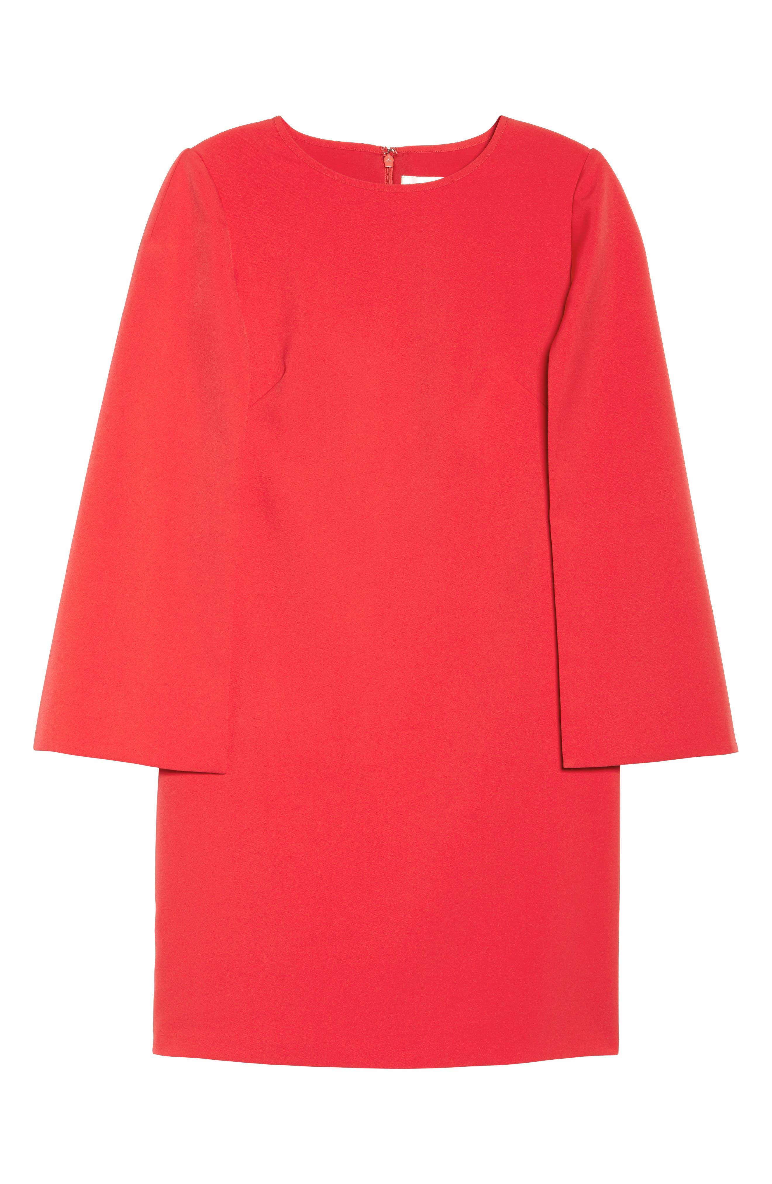 Cape Sleeve Minidress,                             Alternate thumbnail 7, color,                             610