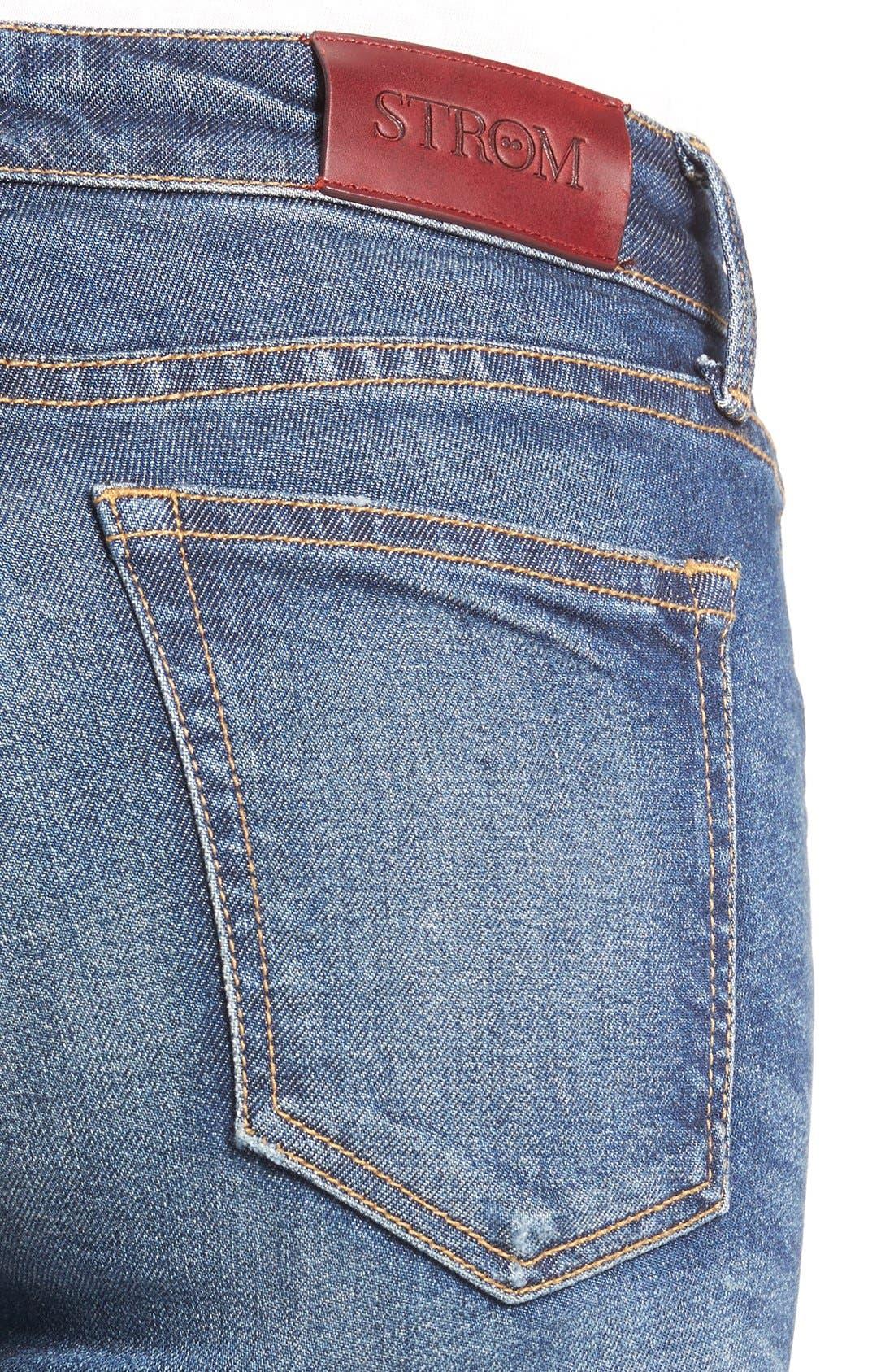 STROM,                             'Tio' Ankle Skinny Jeans,                             Alternate thumbnail 4, color,                             420