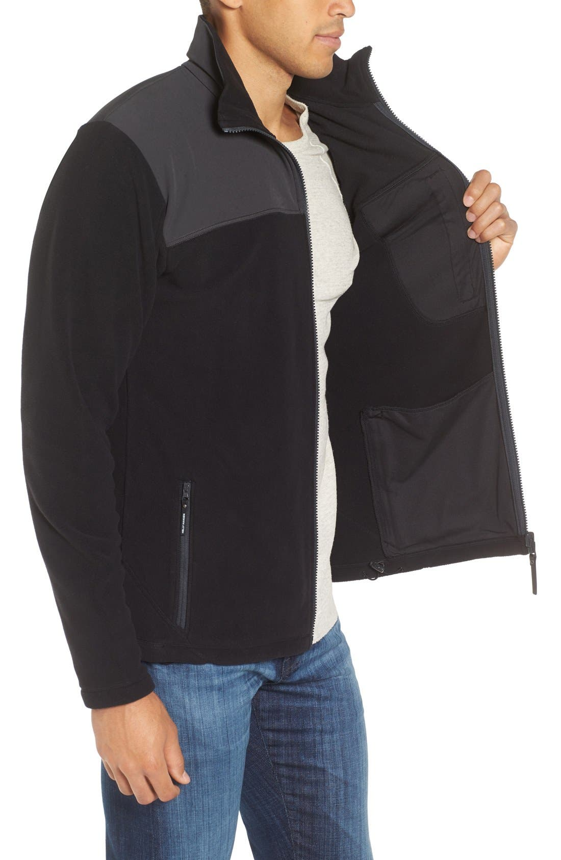 Sitka Fleece Jacket,                             Alternate thumbnail 3, color,                             001