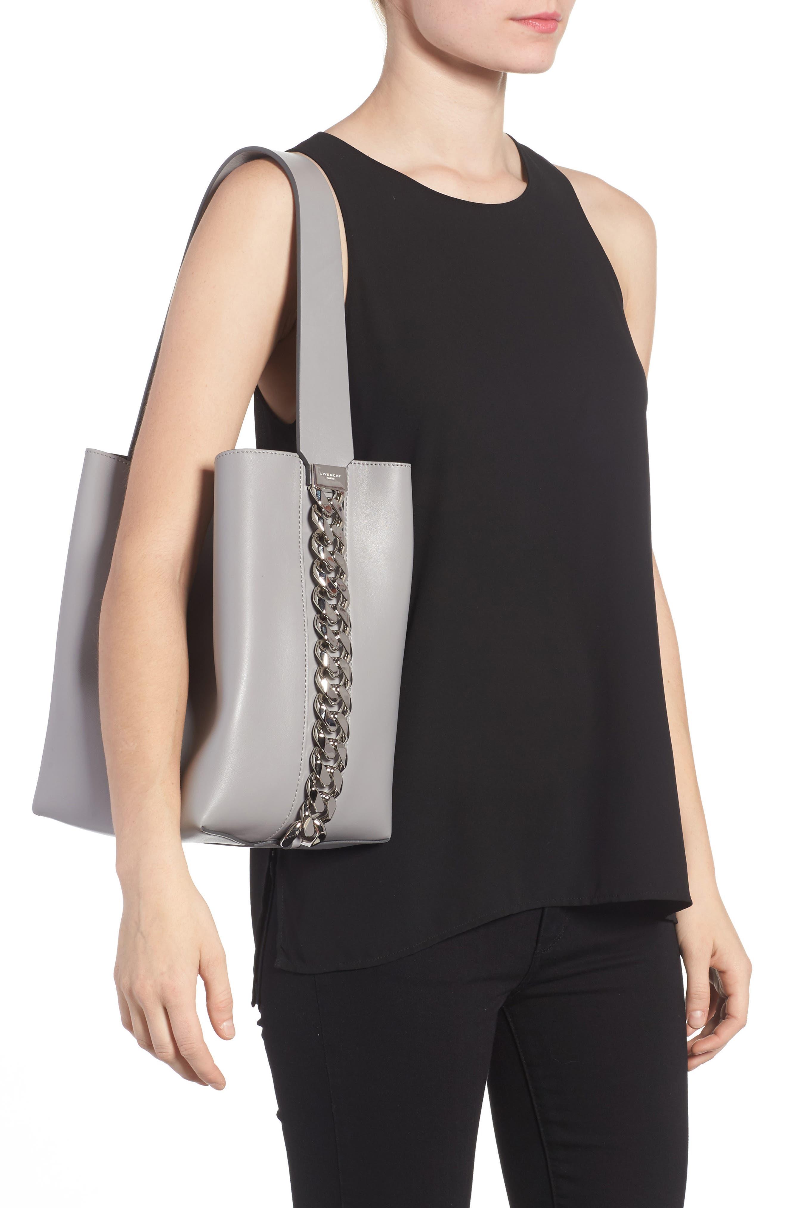 Infinity Calfskin Leather Bucket Bag,                             Alternate thumbnail 2, color,                             051