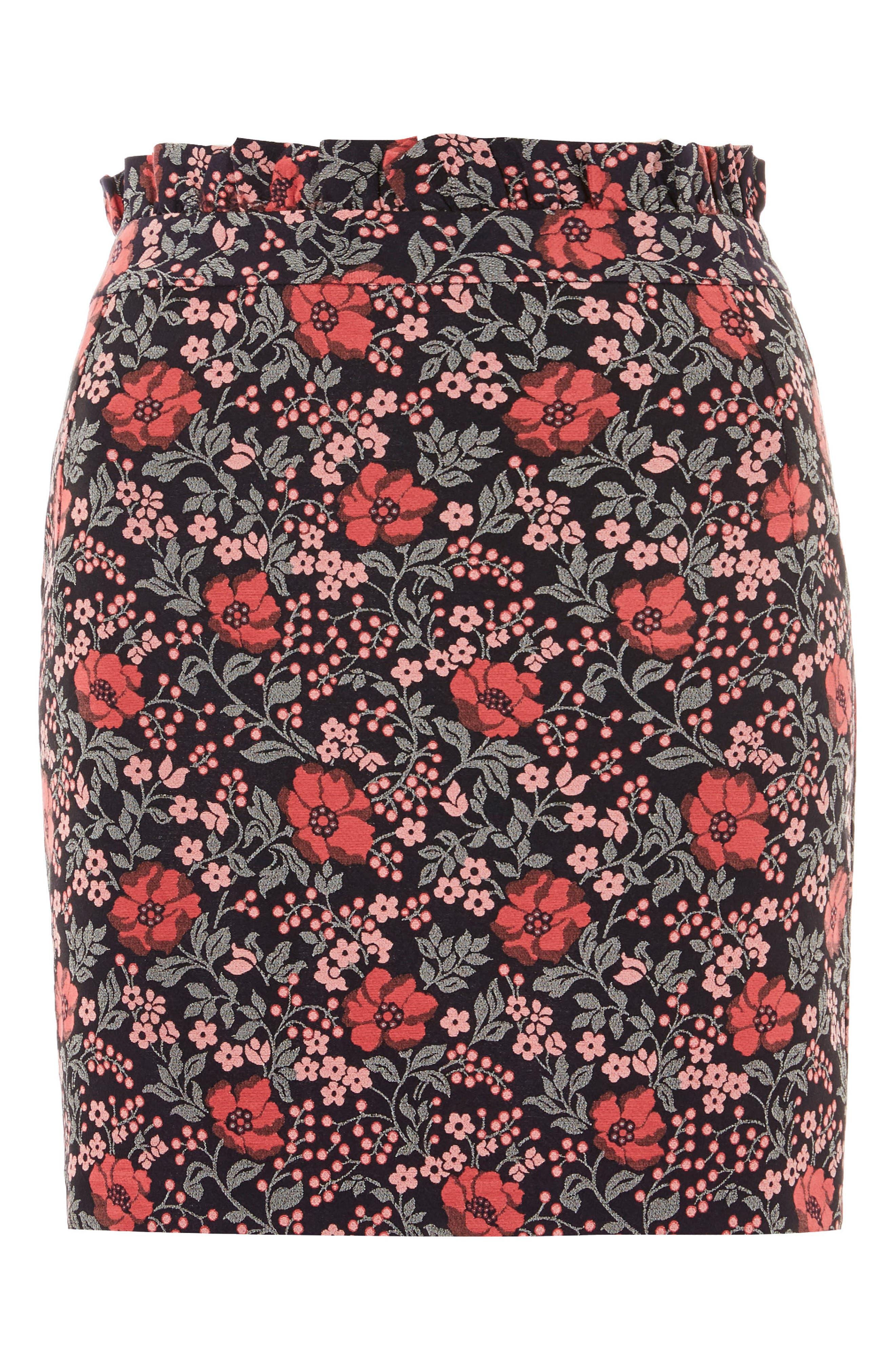 Poppy Jacquard Miniskirt,                             Alternate thumbnail 3, color,                             650