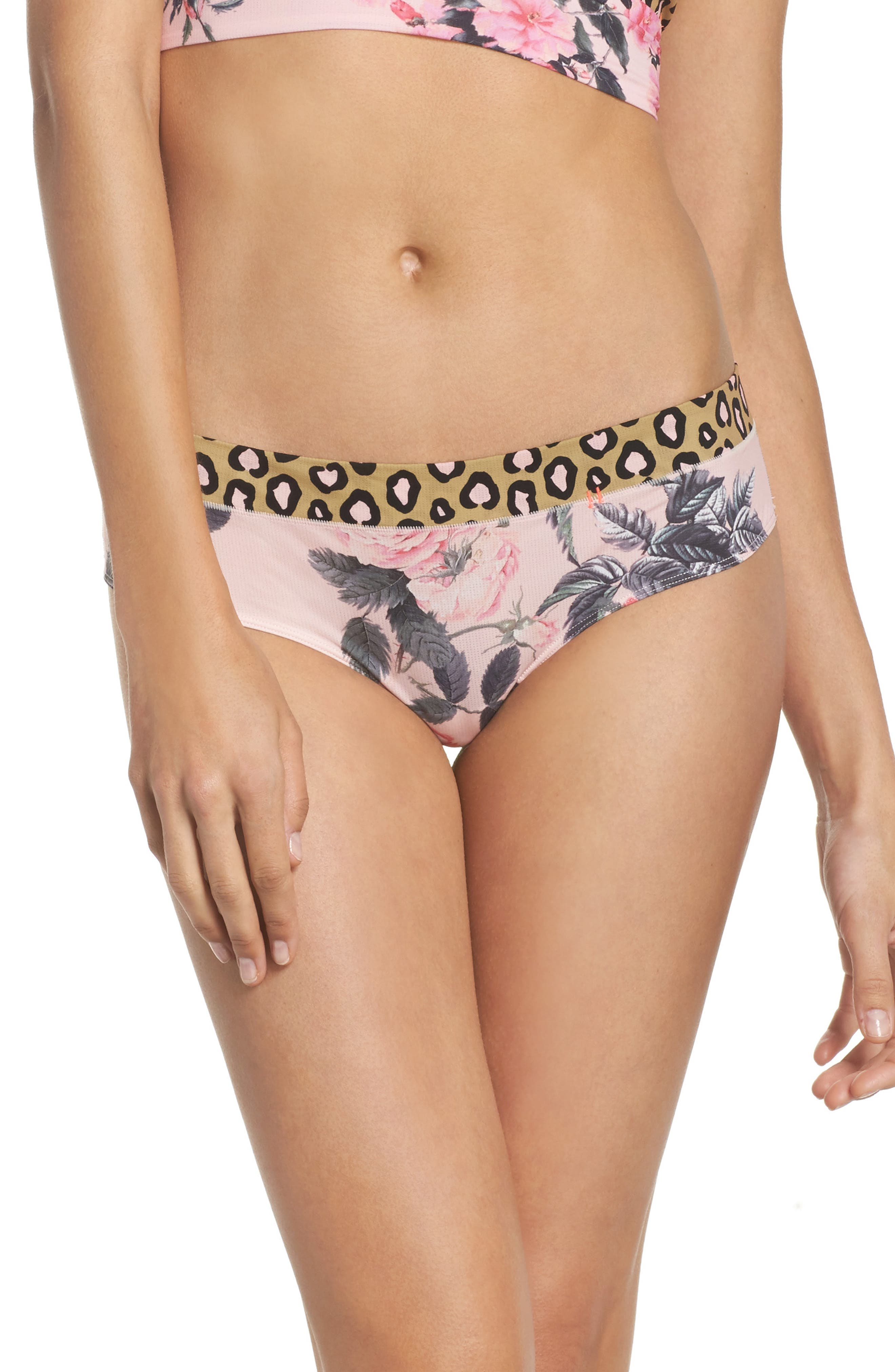 Feline Floral Cheeky Hipster Briefs,                         Main,                         color, 650