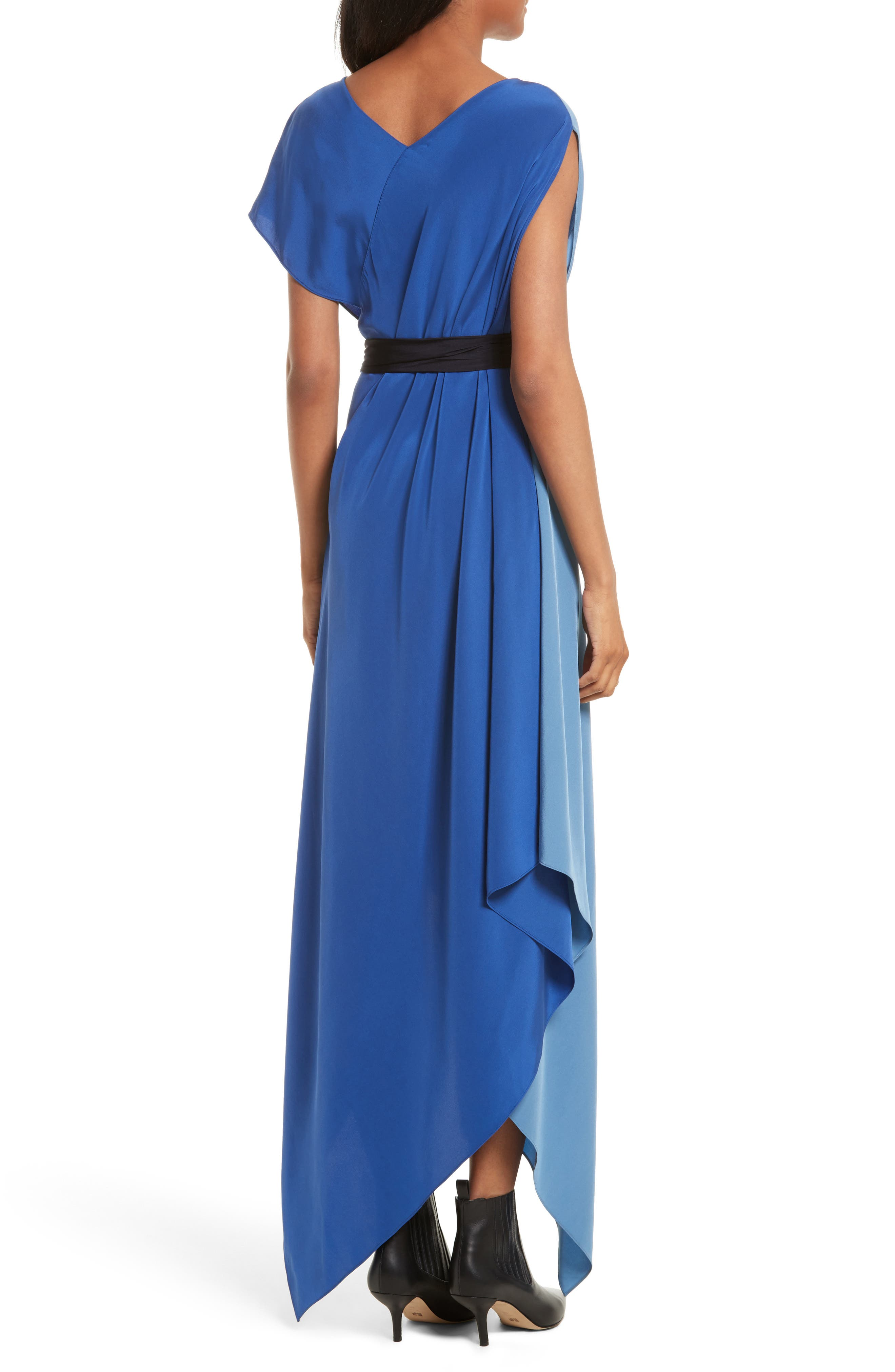 Handkerchief Hem Silk Scarf Dress,                             Alternate thumbnail 2, color,                             400