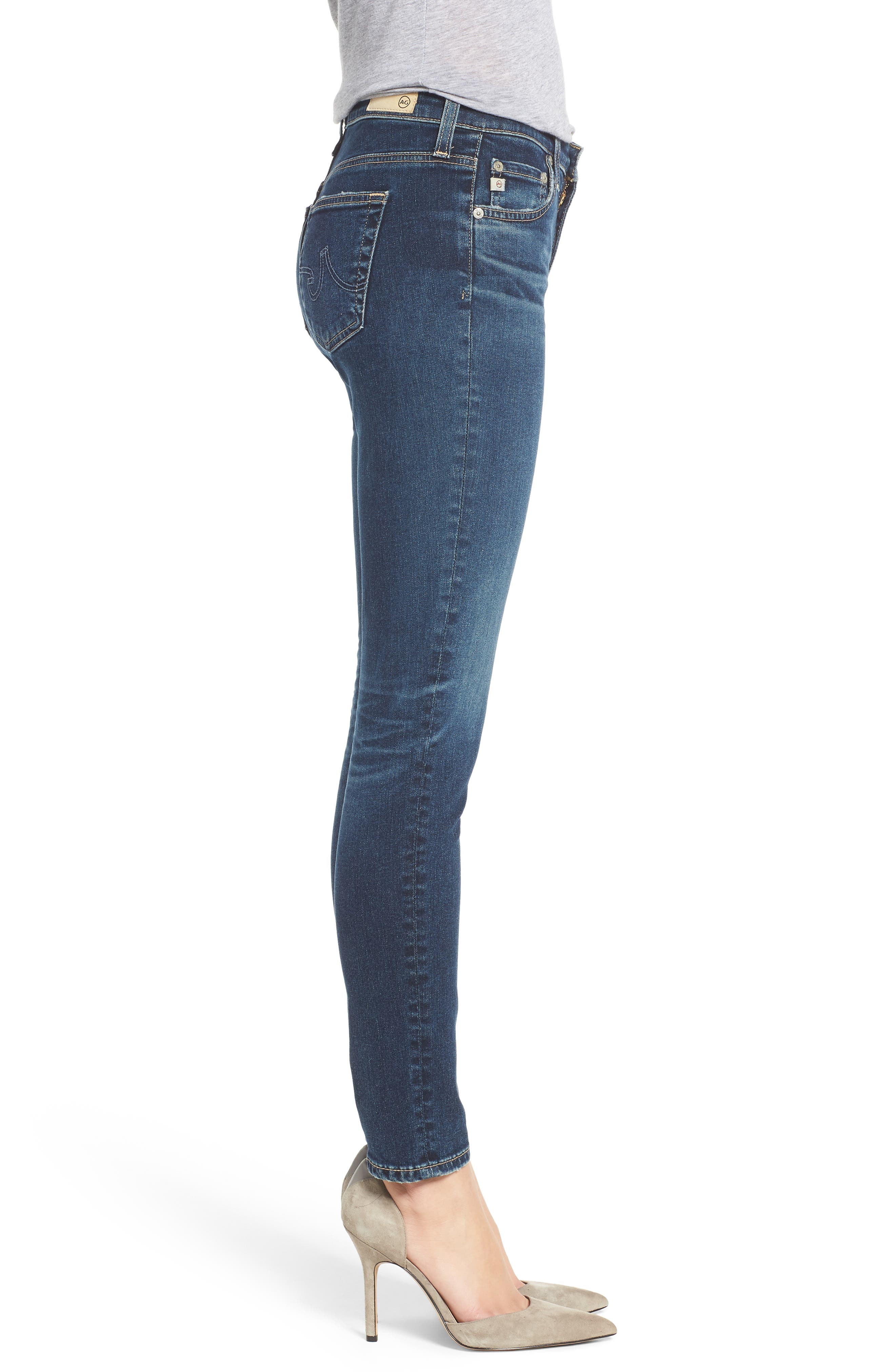 The Legging Ankle Super Skinny Jeans,                             Alternate thumbnail 3, color,                             10Y TRANSCENDANCE