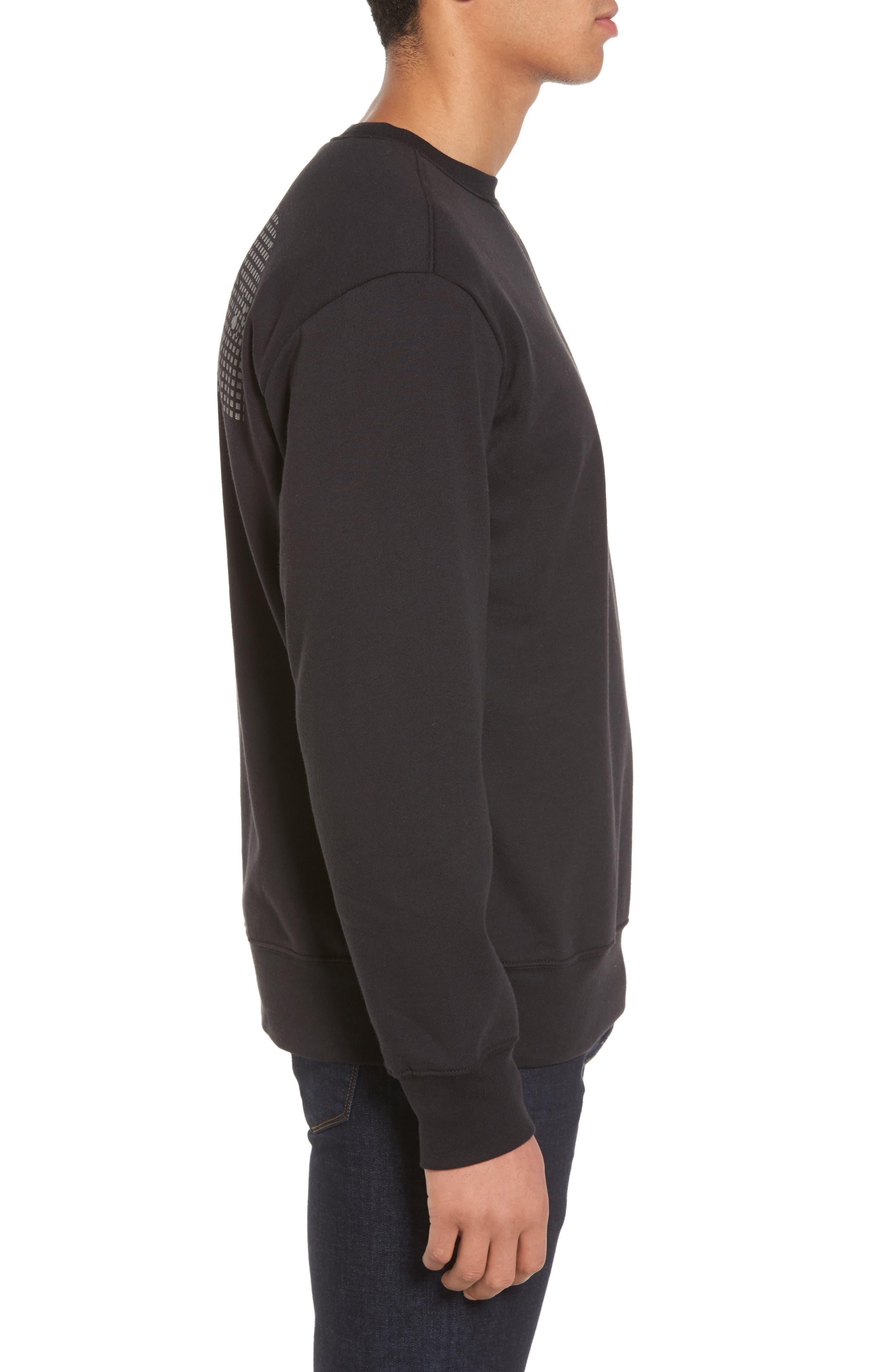 'Half Dome' Crewneck Sweatshirt,                             Alternate thumbnail 3, color,                             002