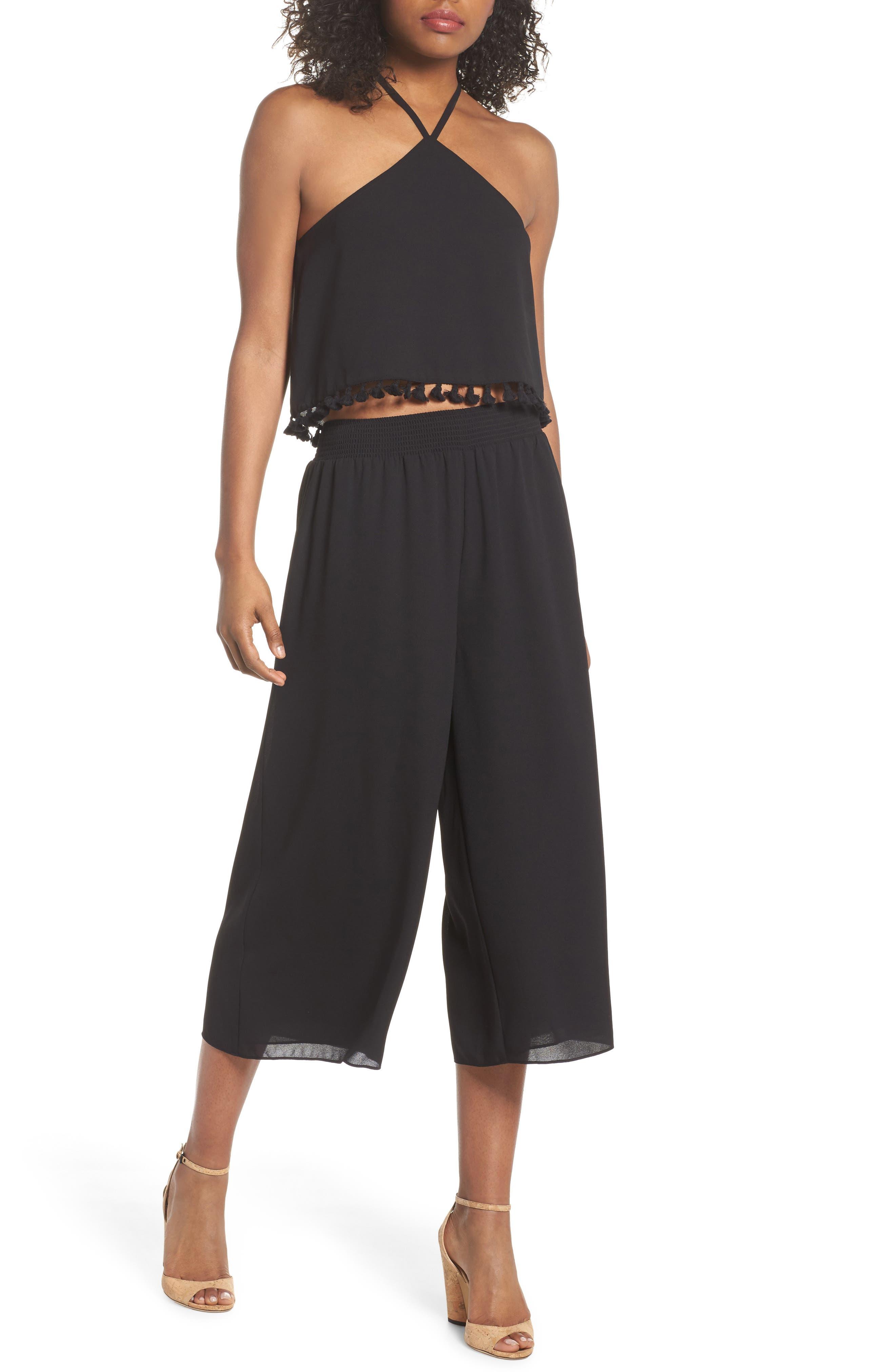 Two-Piece Crop Jumpsuit,                         Main,                         color, 001