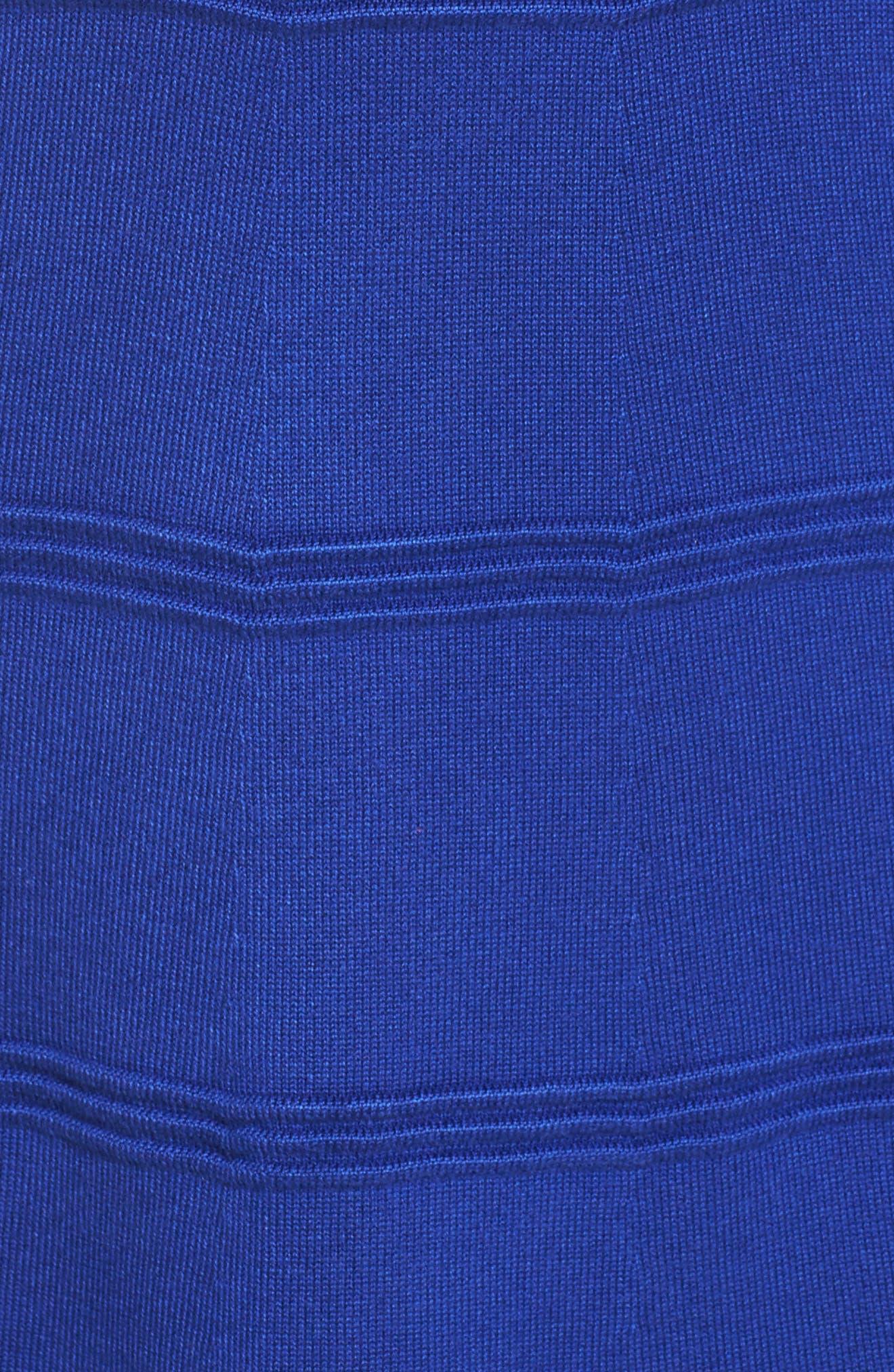 A-Line Sweater Dress,                             Alternate thumbnail 5, color,                             COBALT
