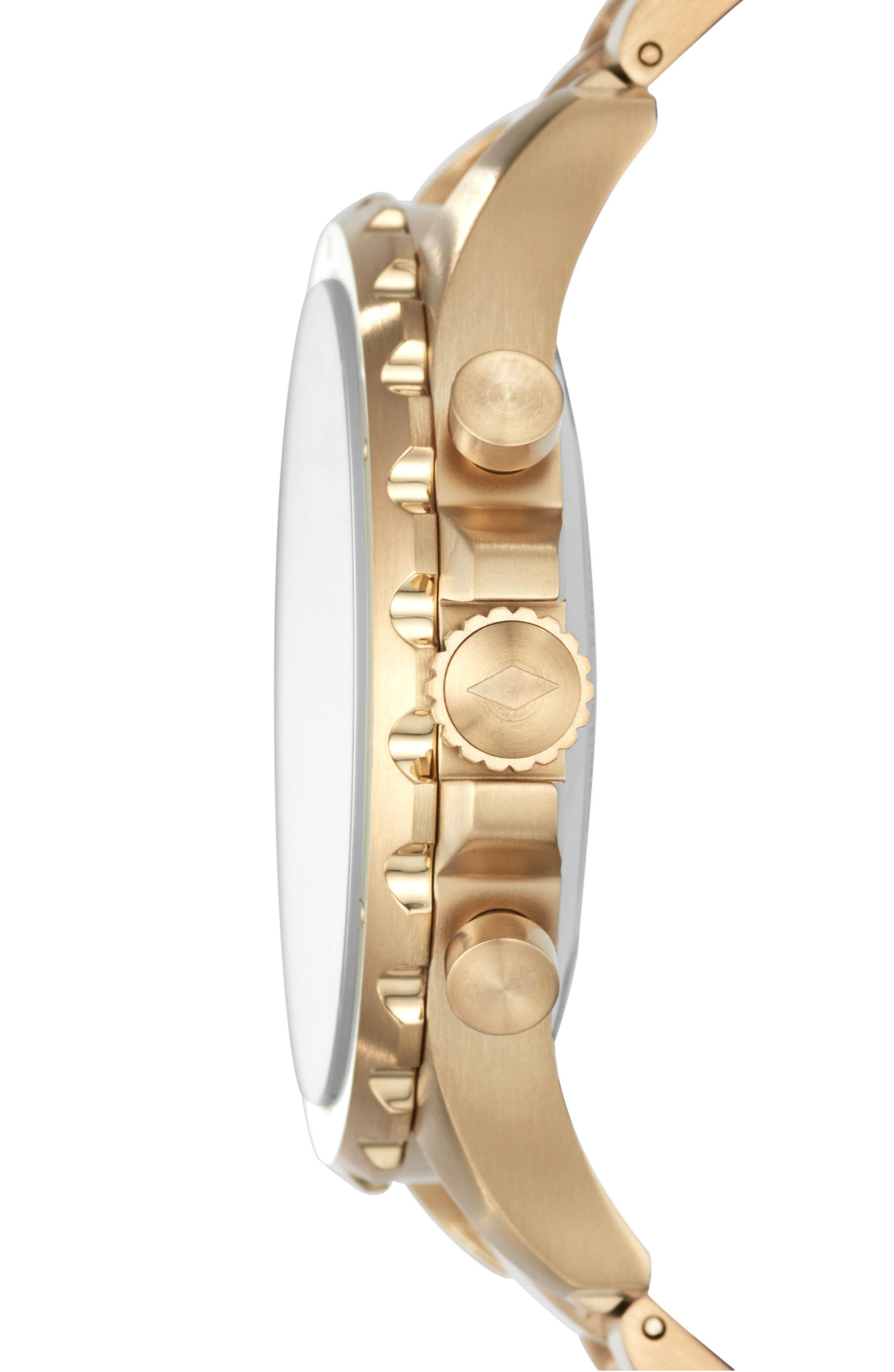 Nate Bracelet Hybrid Smart Watch, 50mm,                             Alternate thumbnail 3, color,                             GOLD