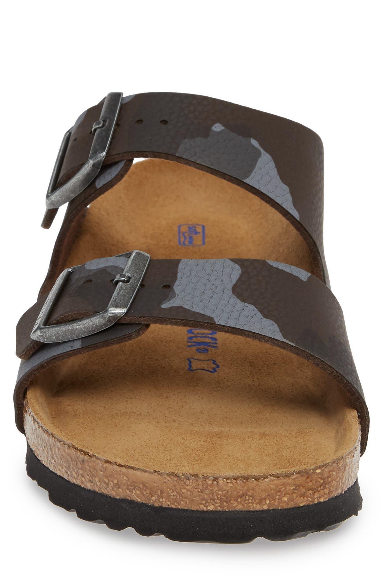 Arizona Soft Slide Sandal,                             Alternate thumbnail 4, color,                             DESERT SOIL CAMO BROWN
