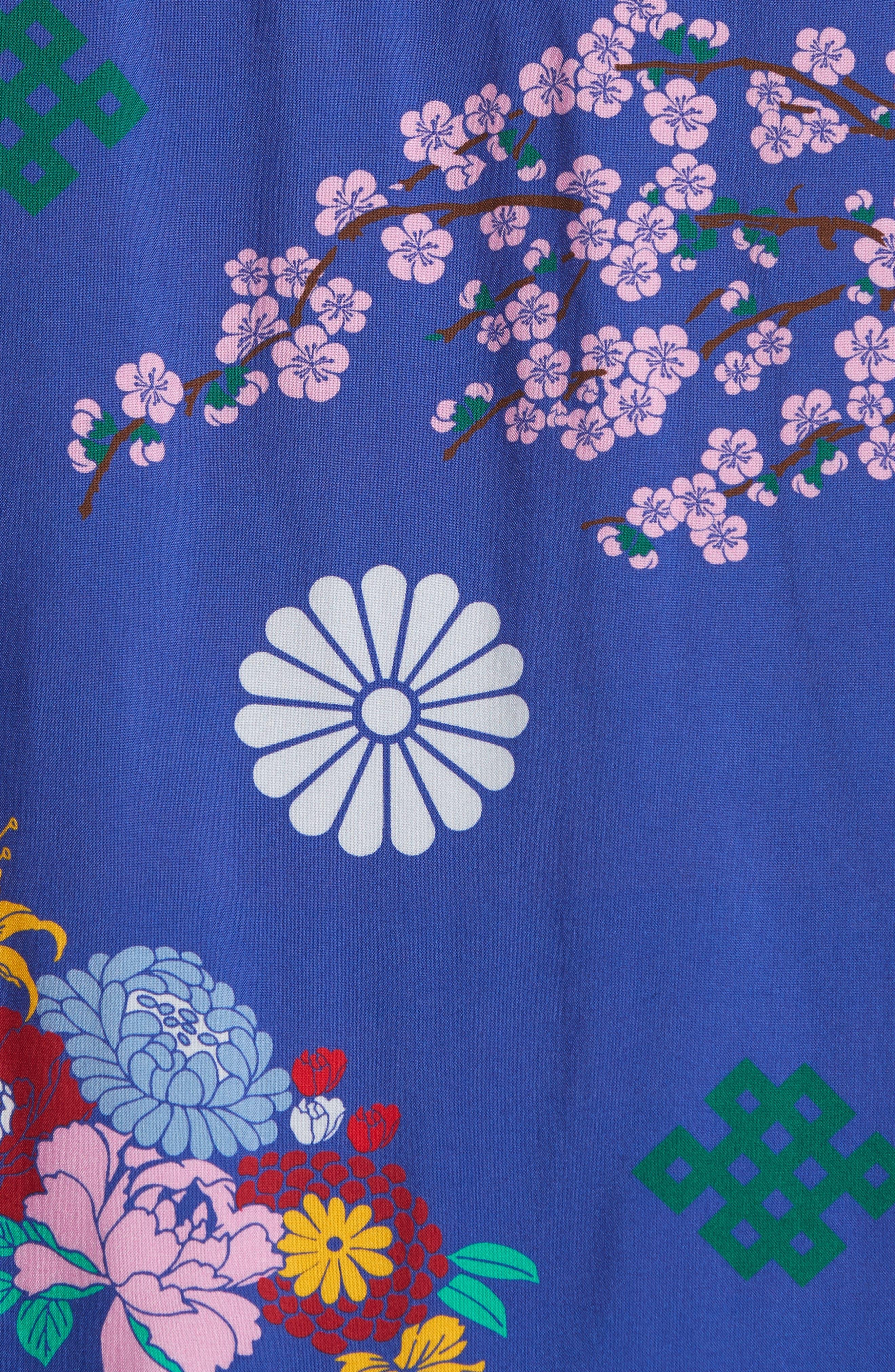 x The North Face Men's Floral Print Camp Shirt,                             Alternate thumbnail 6, color,                             400