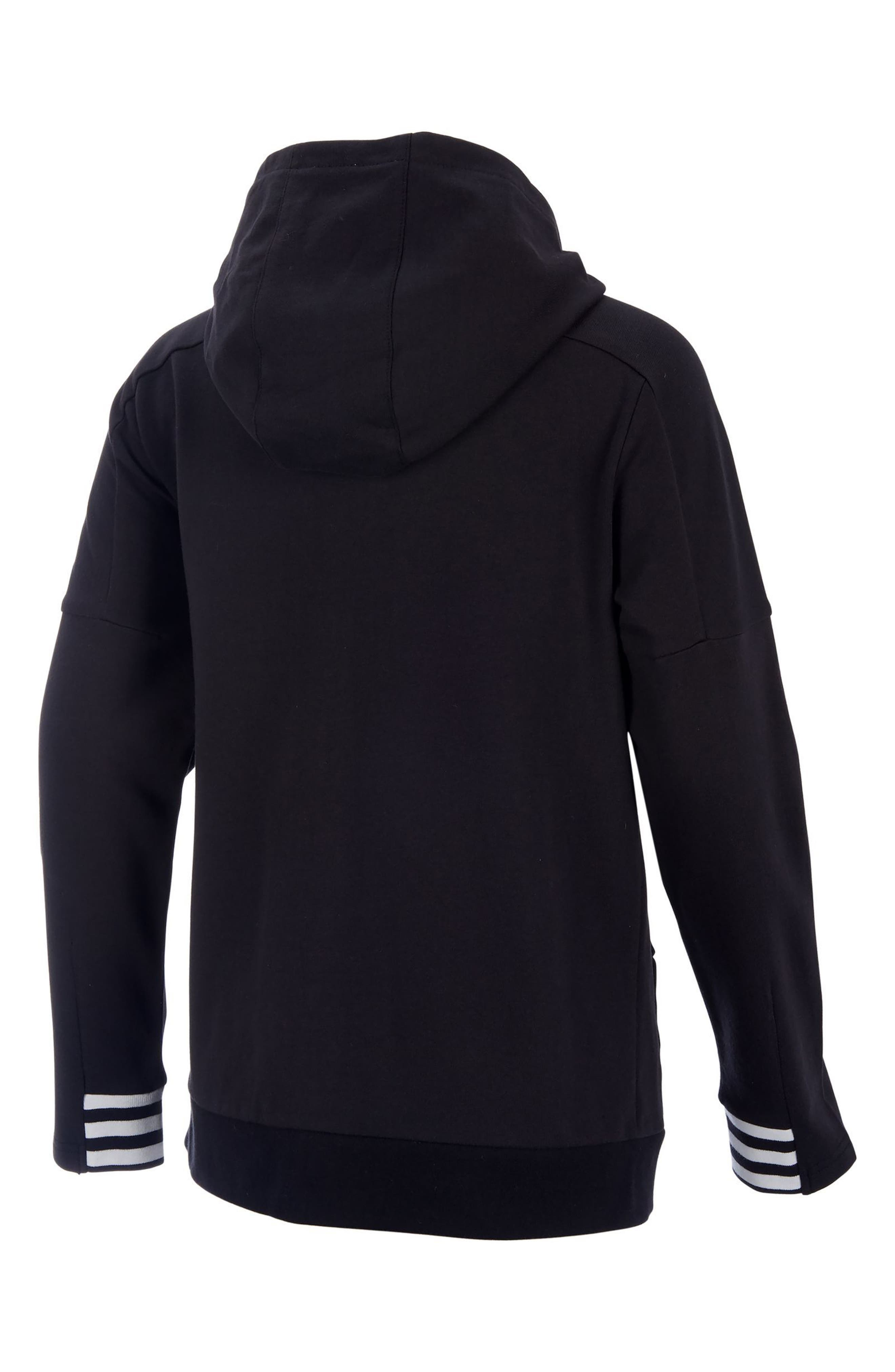 Classic Athletics Zip Hoodie,                             Alternate thumbnail 2, color,                             001