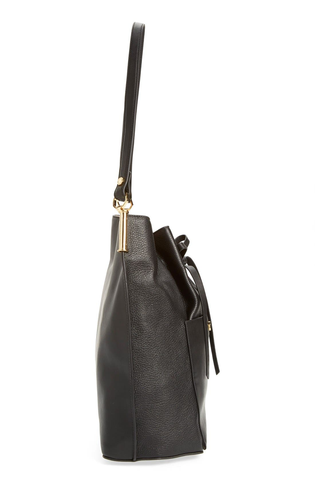 'Large Lucie' Bucket Bag,                             Alternate thumbnail 4, color,                             001