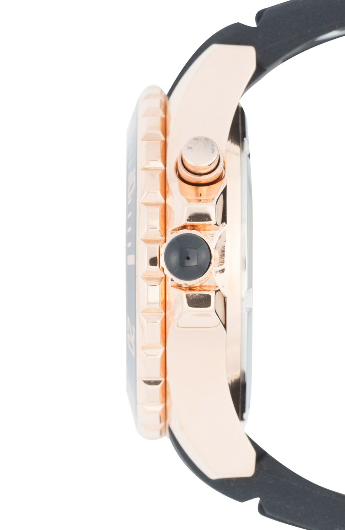 Power Silicone Strap Watch, 40mm,                             Alternate thumbnail 3, color,                             002