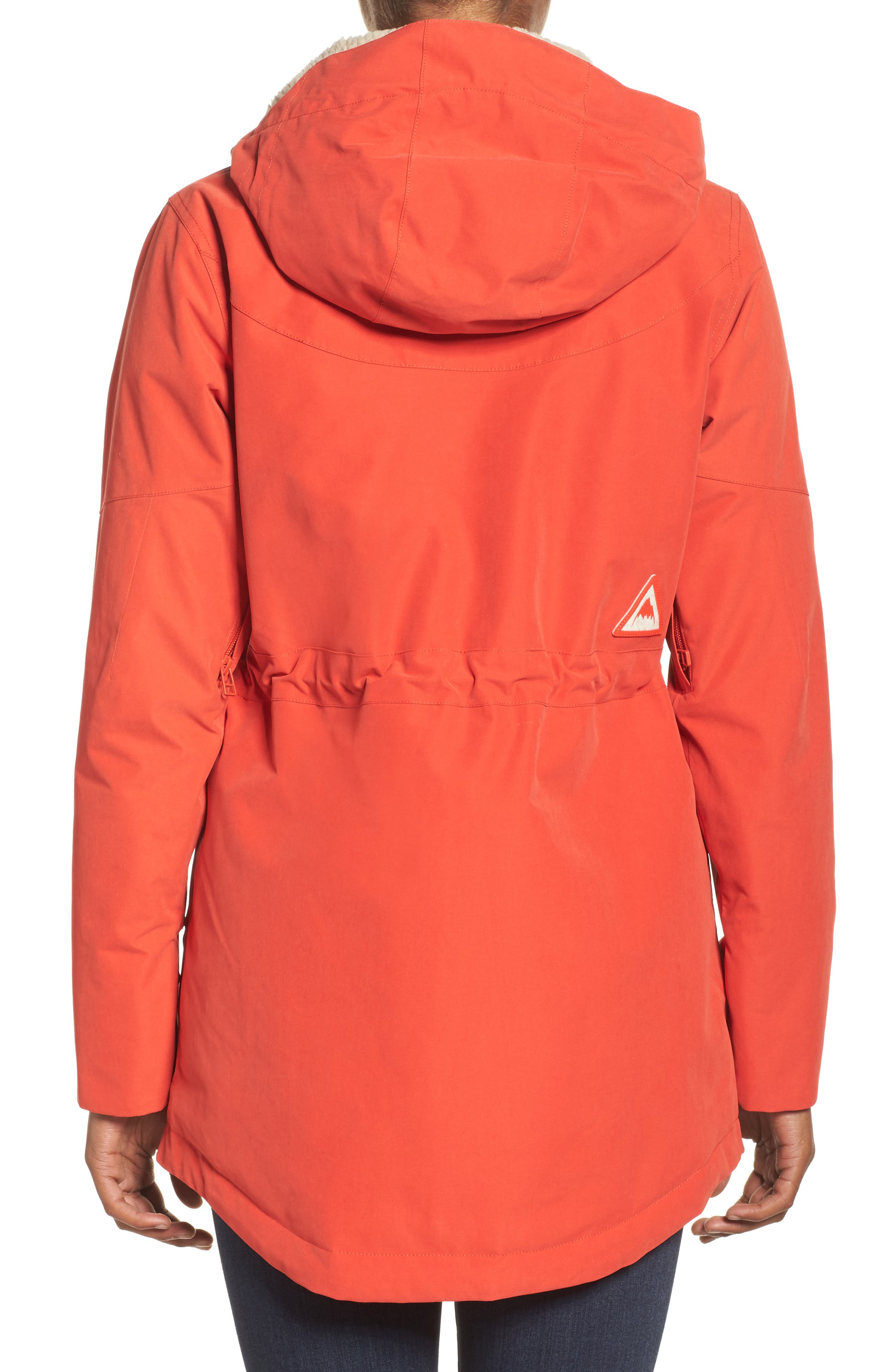 Prowess Fleece Lined Water Resistant Jacket,                             Alternate thumbnail 2, color,                             FIERY RED SUEDED