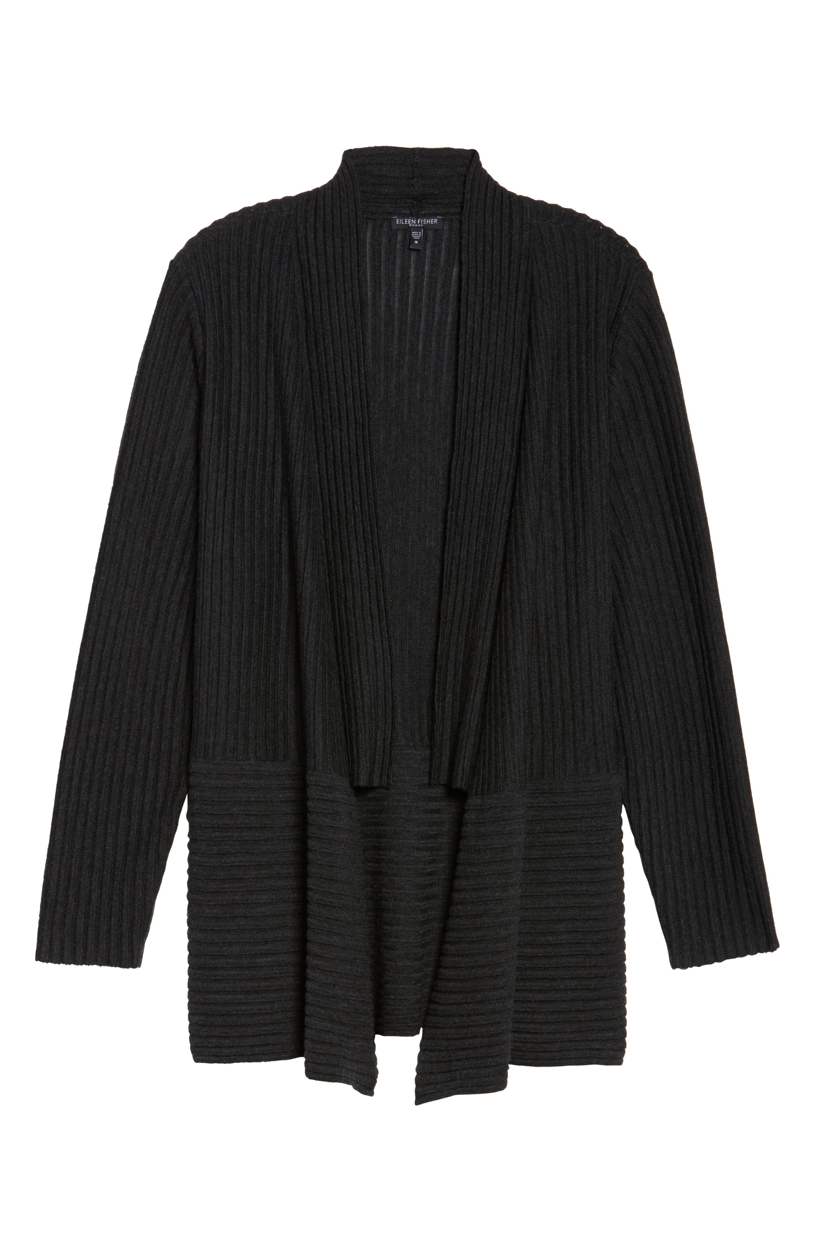 Ribbed Merino Wool Long Cardigan,                             Alternate thumbnail 22, color,