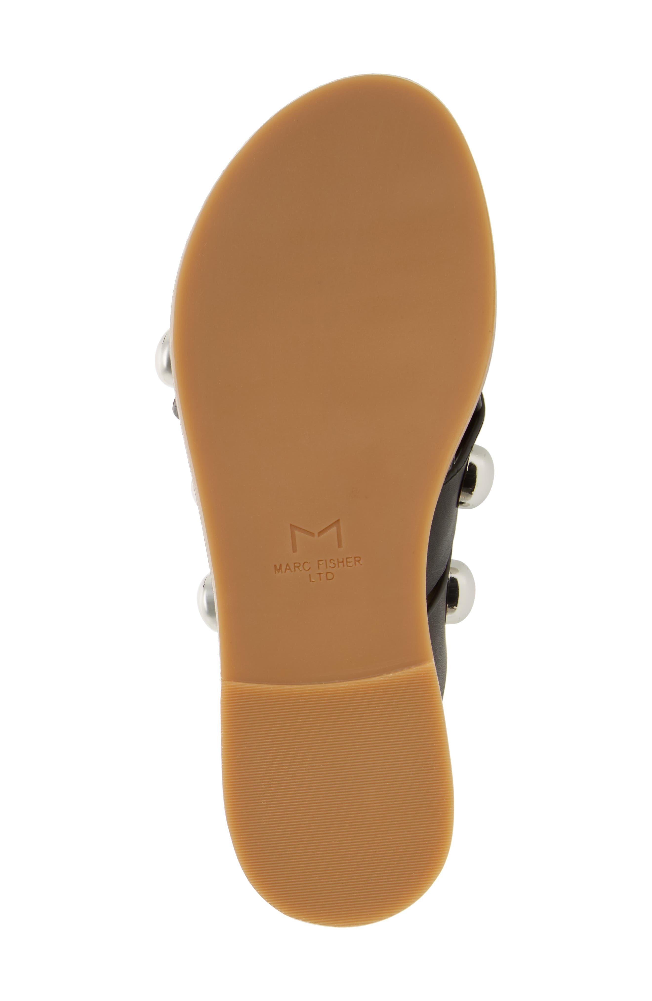 MARC FISHER LTD,                             Raidan Studded Sandal,                             Alternate thumbnail 6, color,                             001
