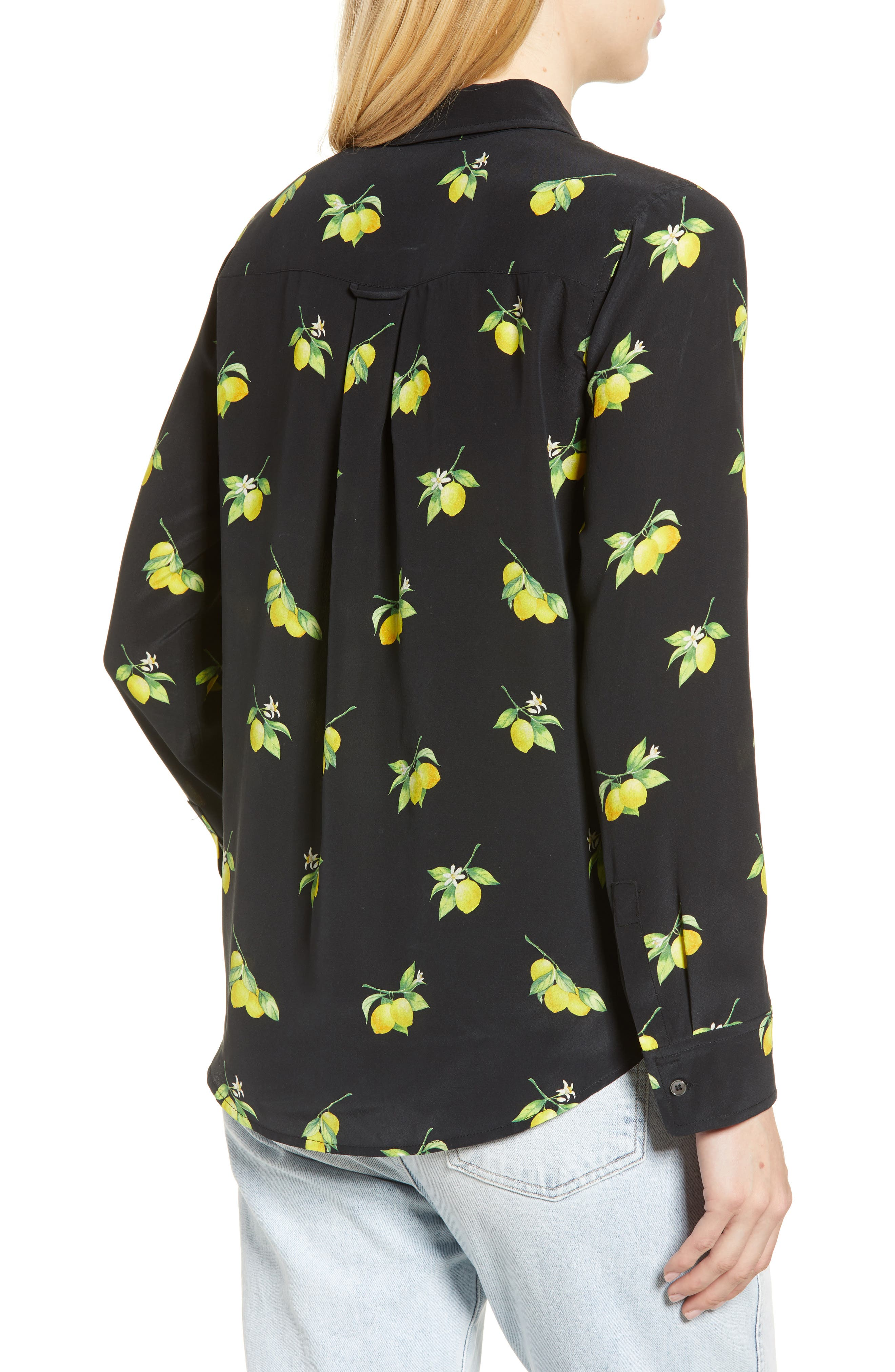 Kate Print Shirt,                             Alternate thumbnail 2, color,                             LEMONS