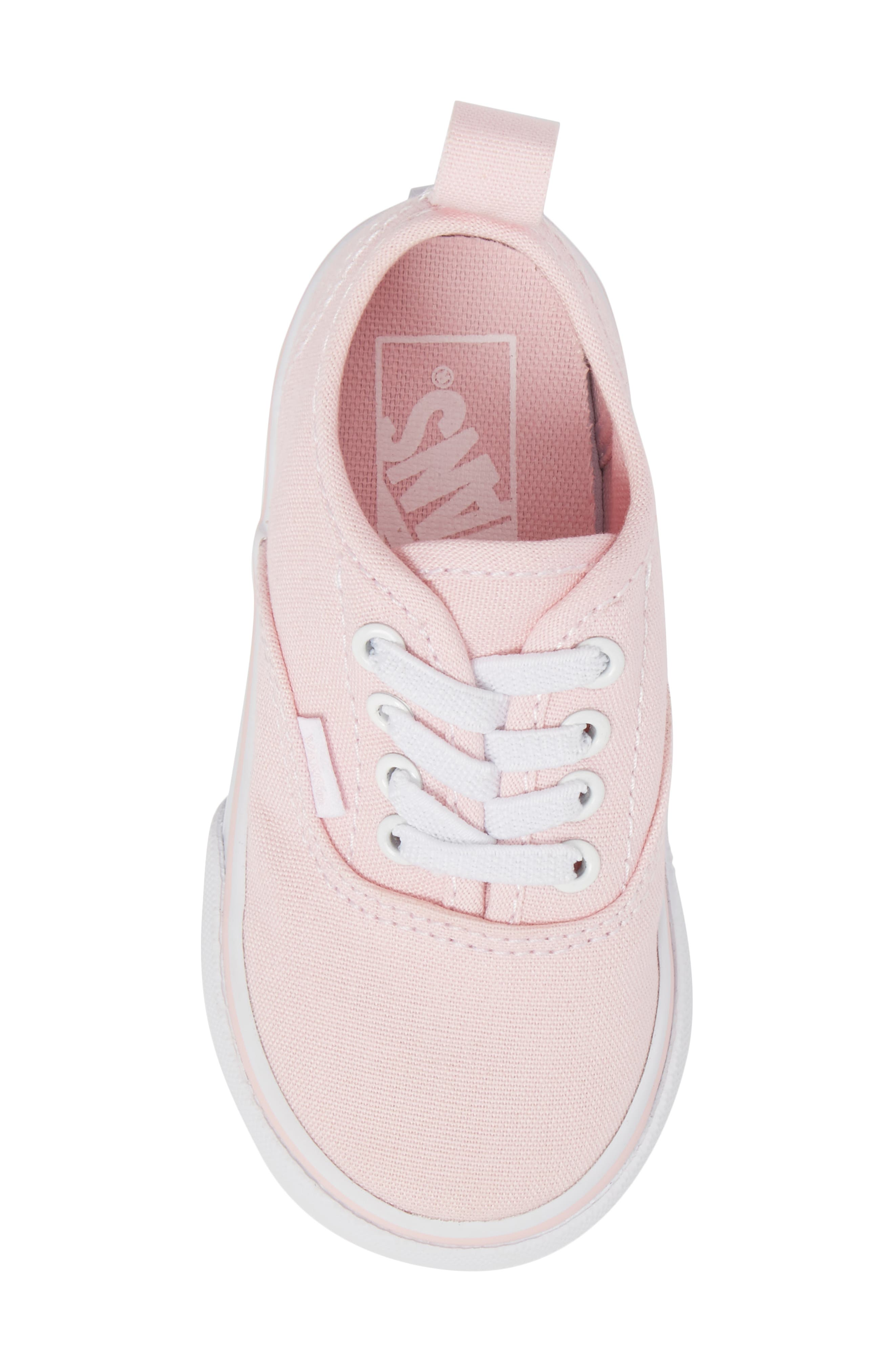 Authentic Elastic Lace Sneaker,                             Alternate thumbnail 5, color,                             CHALK PINK/ TRUE WHITE