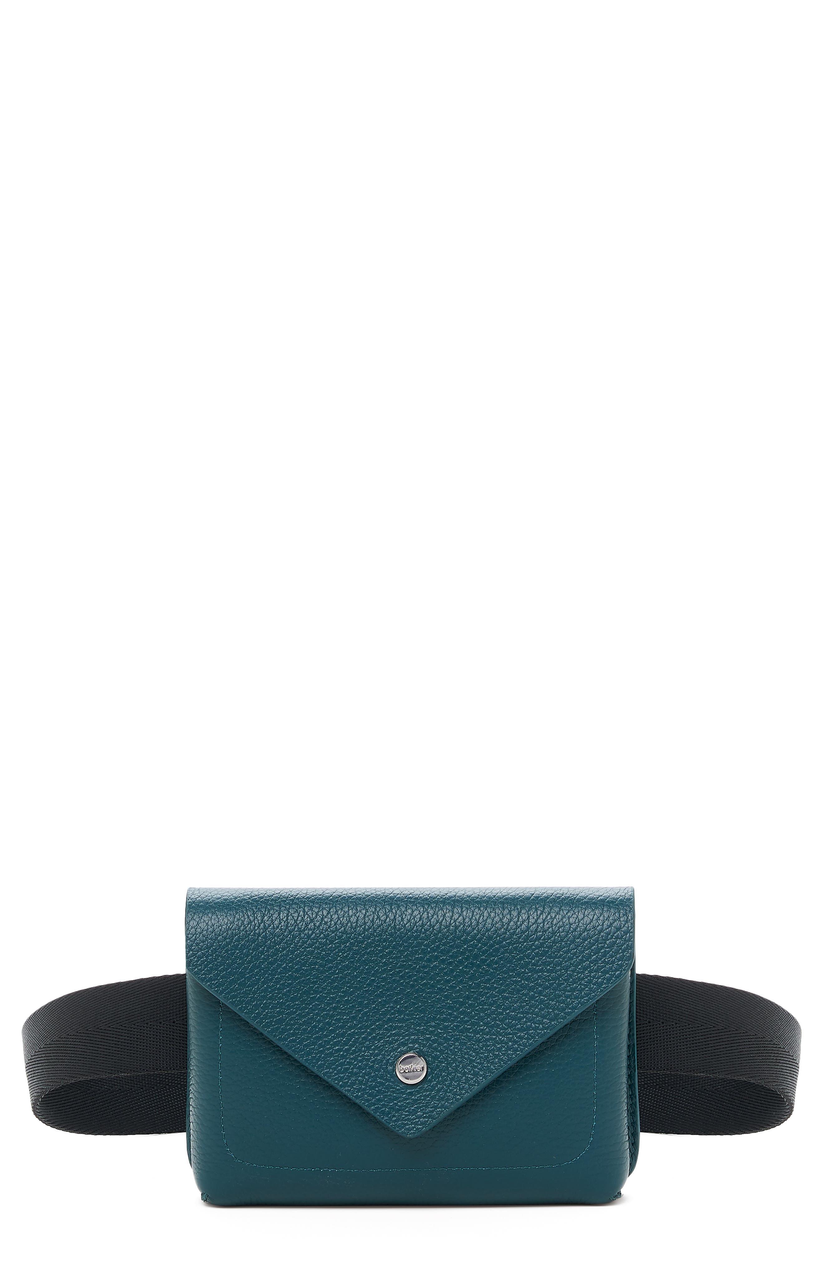 Vivi Calfskin Leather Belt Bag - Green in Emerald