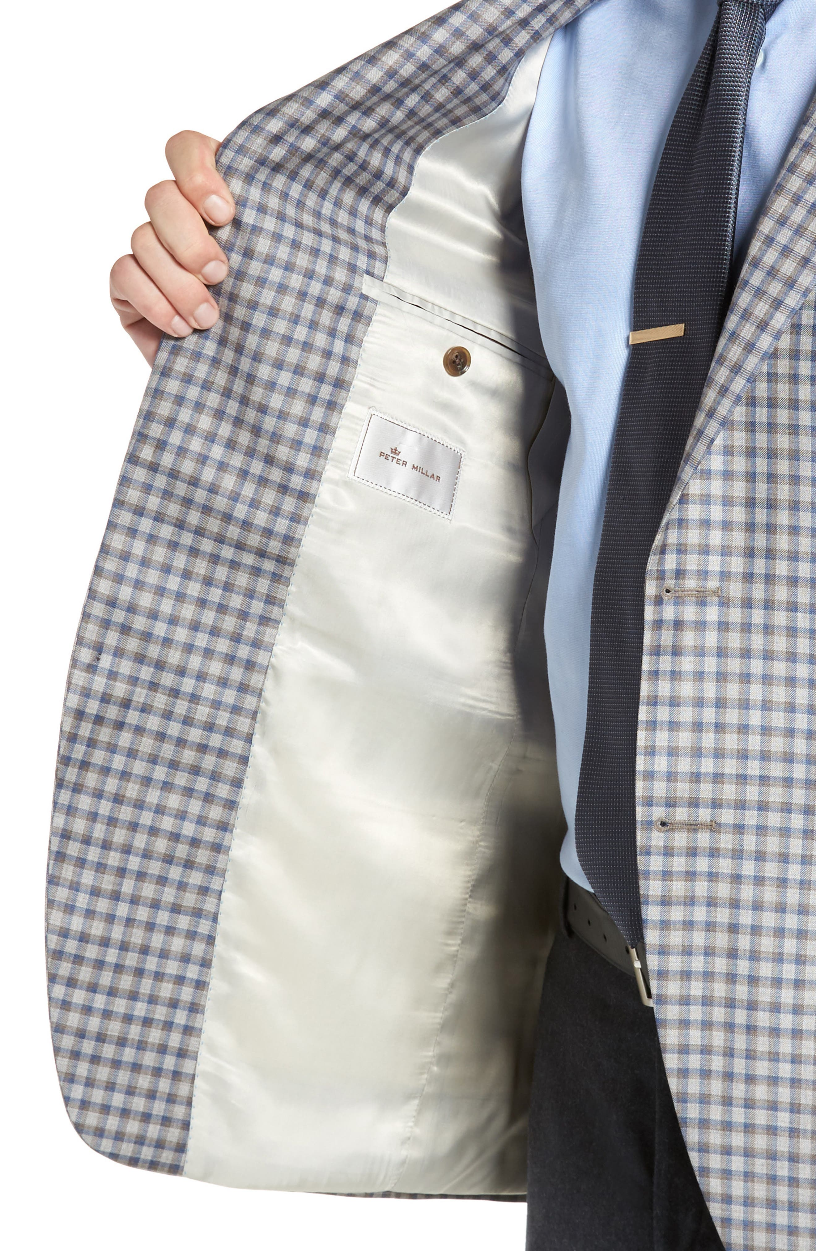 Classic Fit Check Wool Sport Coat,                             Alternate thumbnail 4, color,                             210