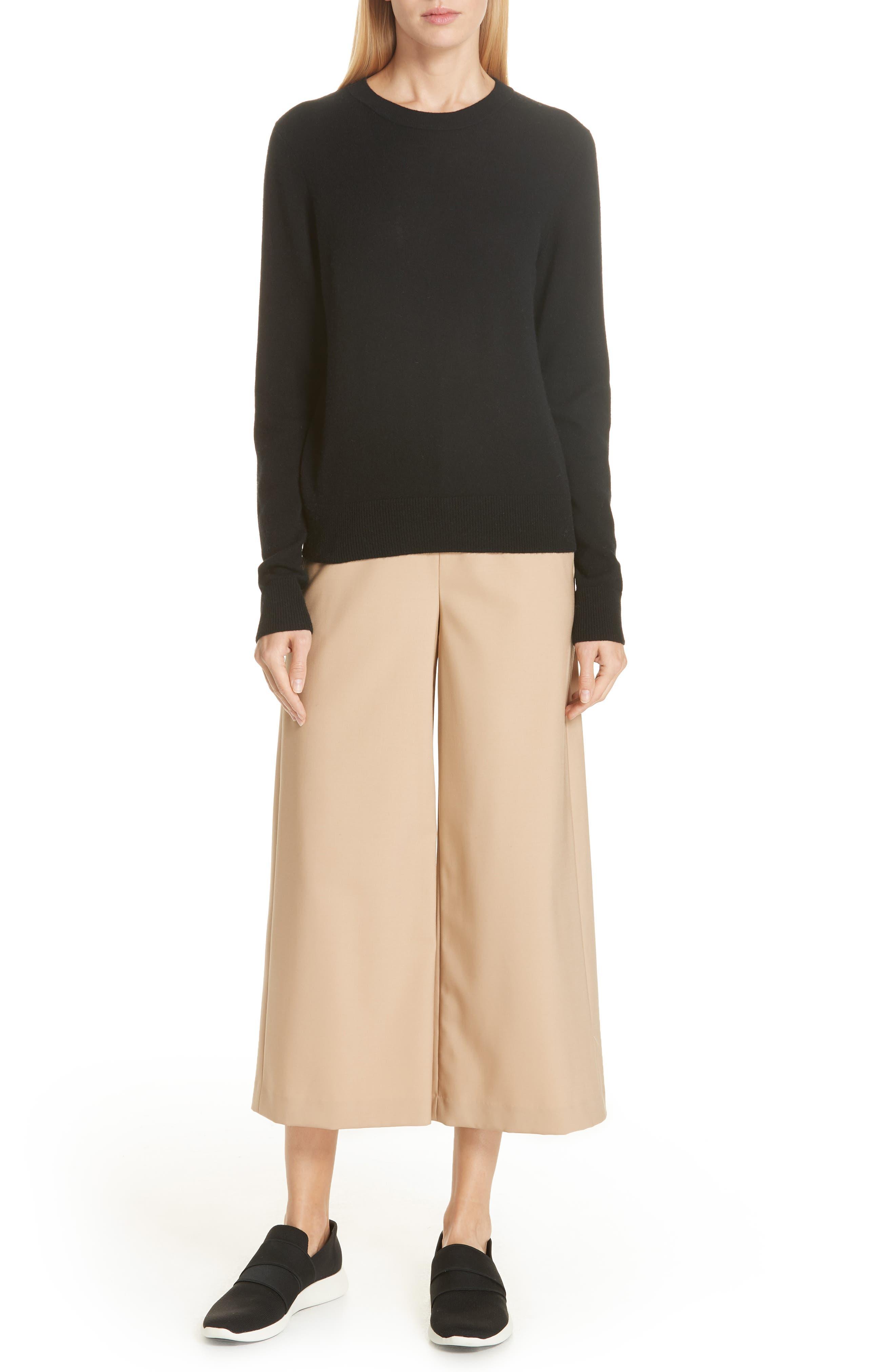 Cashmere Sweater,                             Alternate thumbnail 7, color,                             BLACK