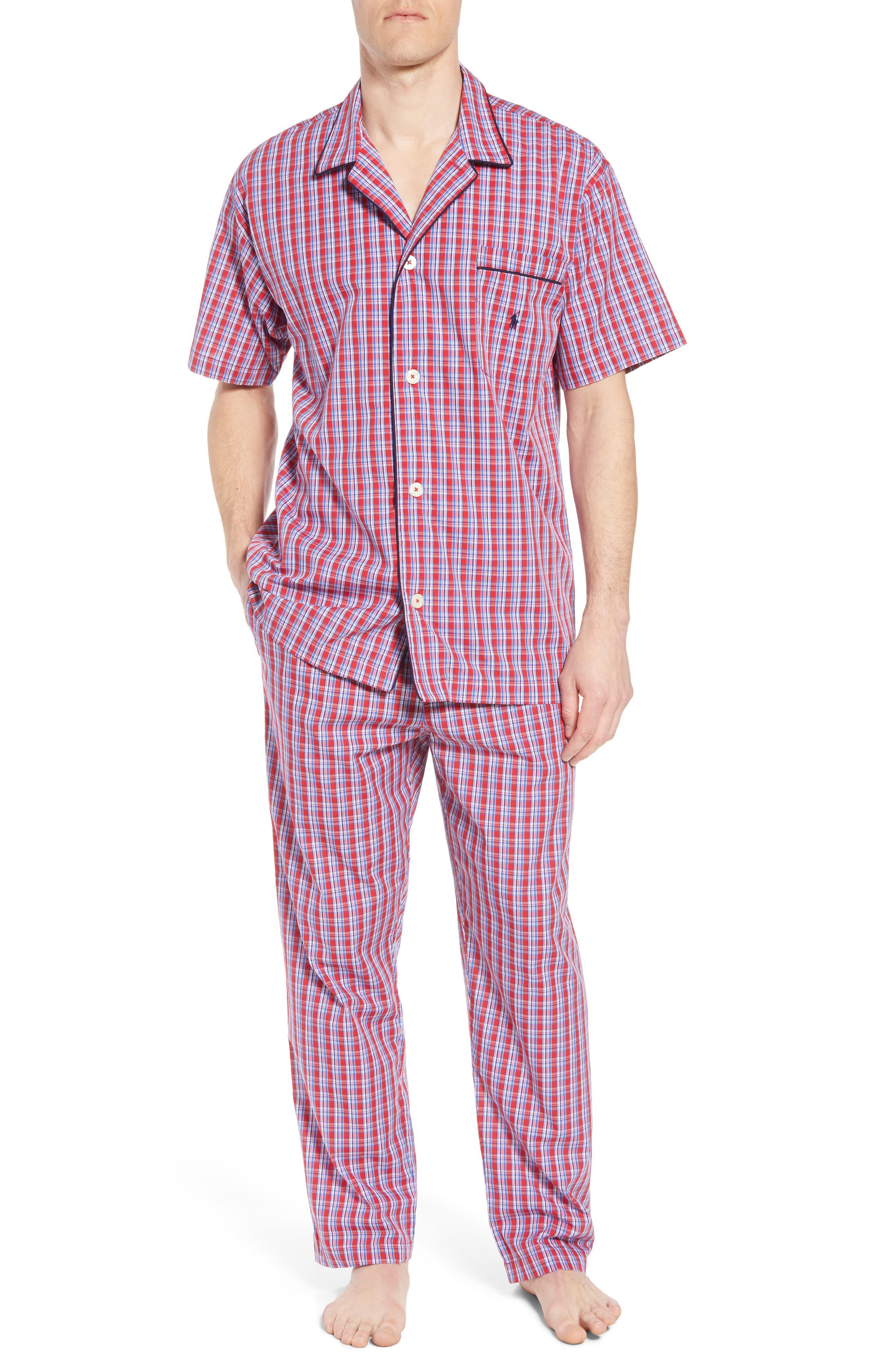 Cotton Lounge Pants,                             Alternate thumbnail 6, color,                             NEWPORT PLAID/ NAVY